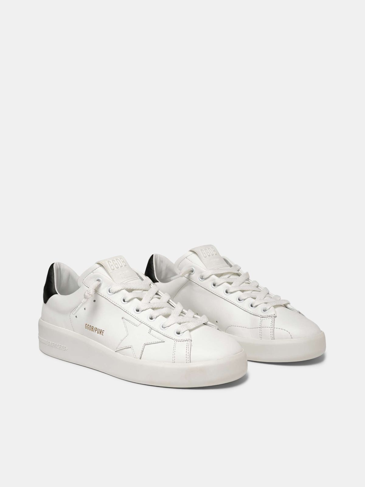 Golden Goose - Sneakers PURESTAR talloncino nero in