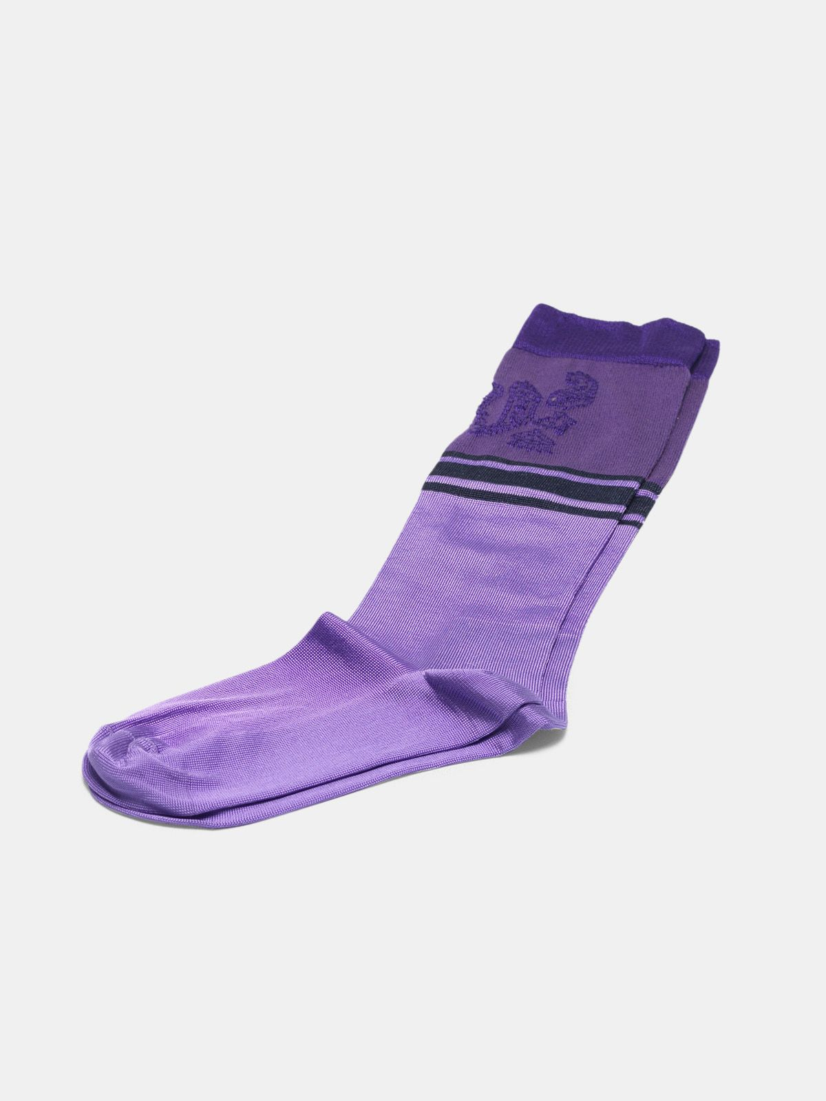 Golden Goose - Purple Addison socks with jacquard pattern in