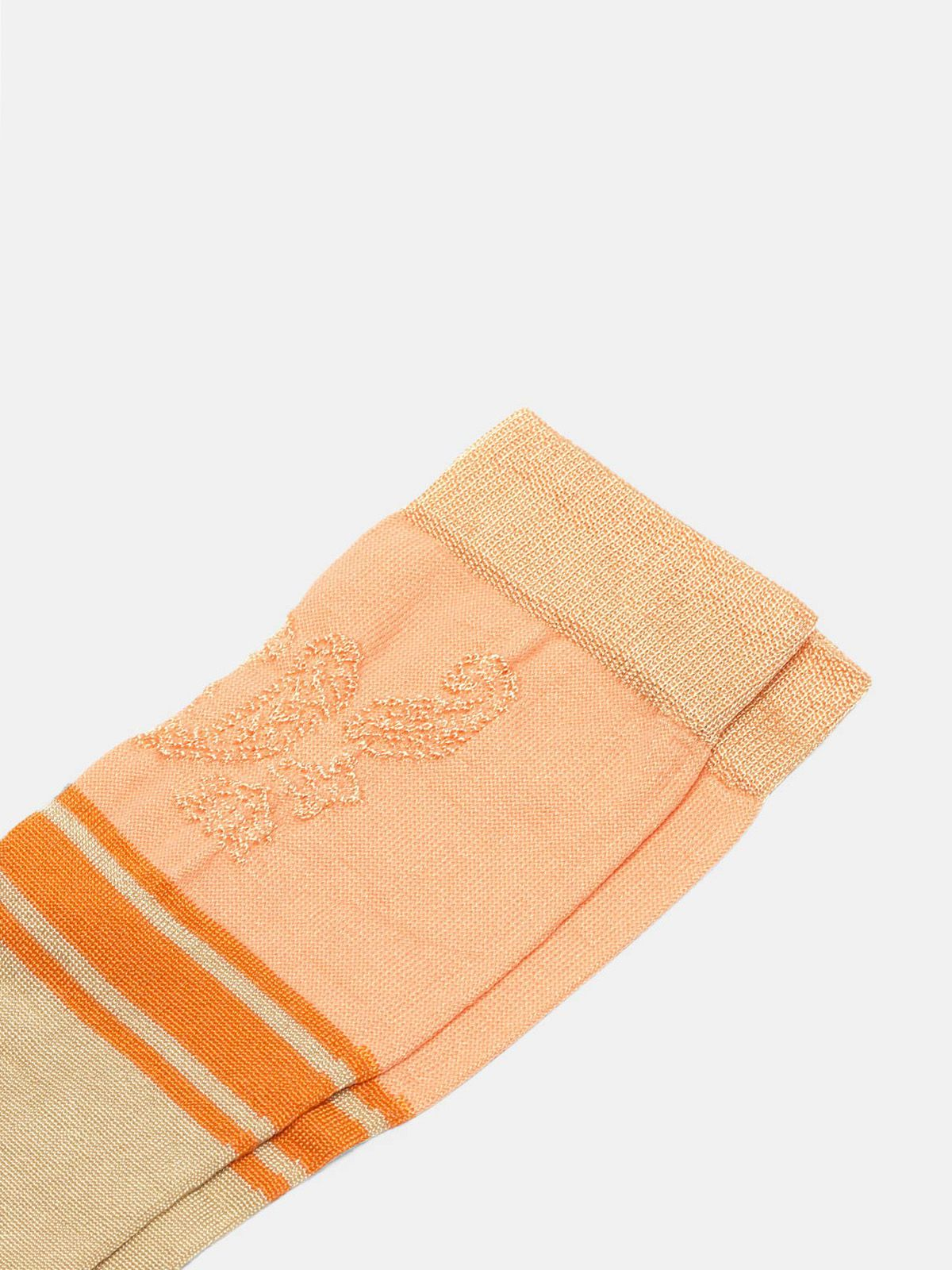 Golden Goose - Peach Addison socks with jacquard pattern in