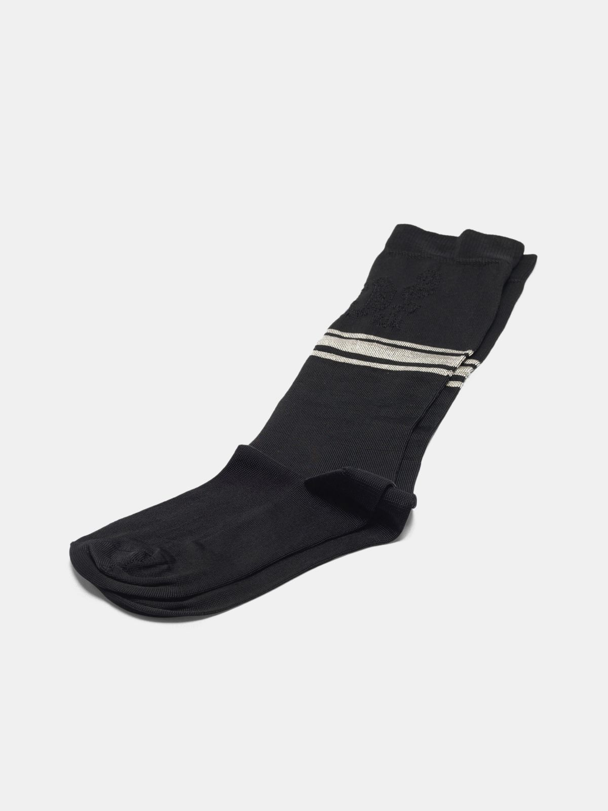 Golden Goose - Black Addison socks with jacquard pattern in