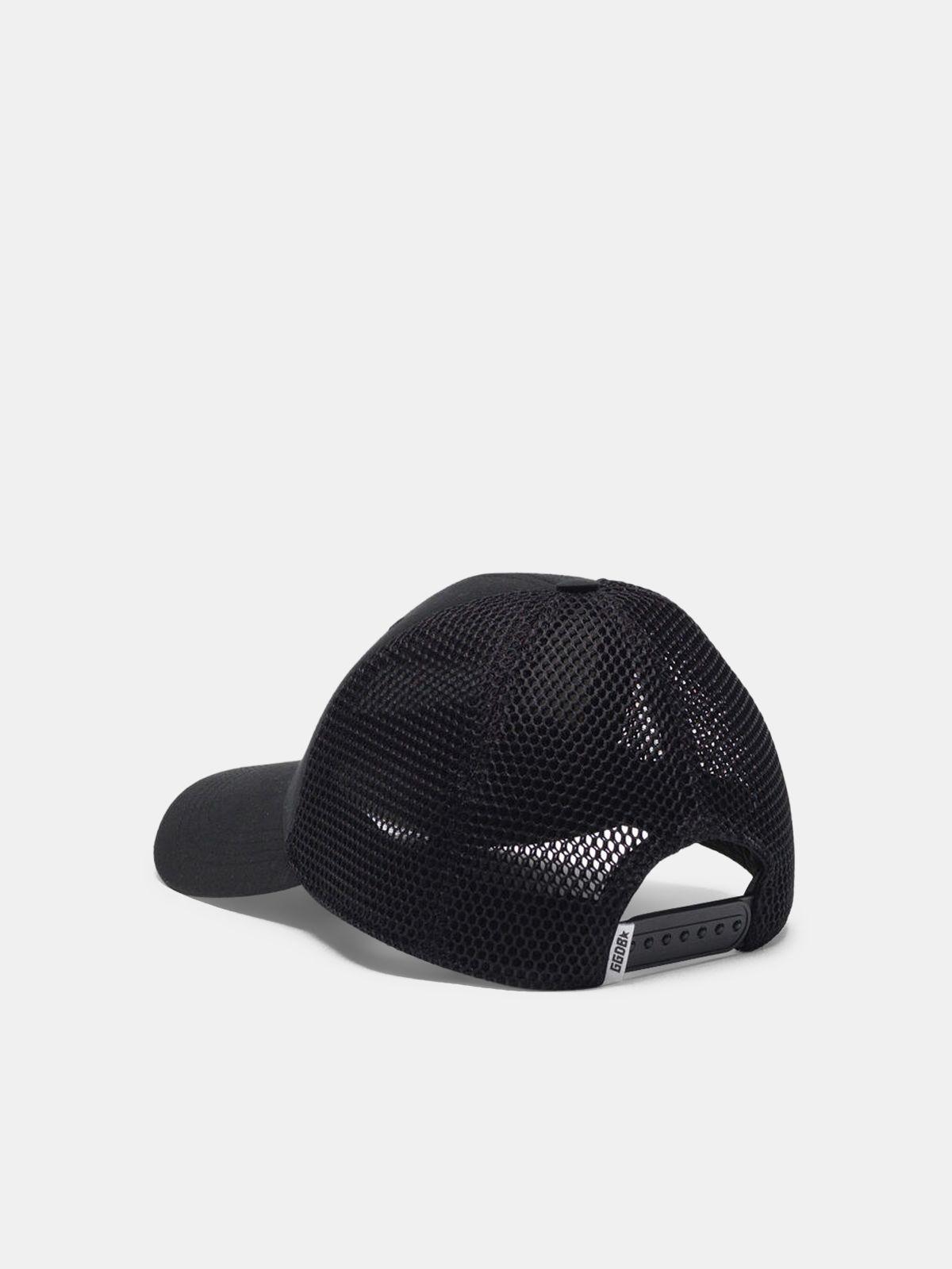 Golden Goose - Cappello Savannah da baseball nero con ricamo logo in