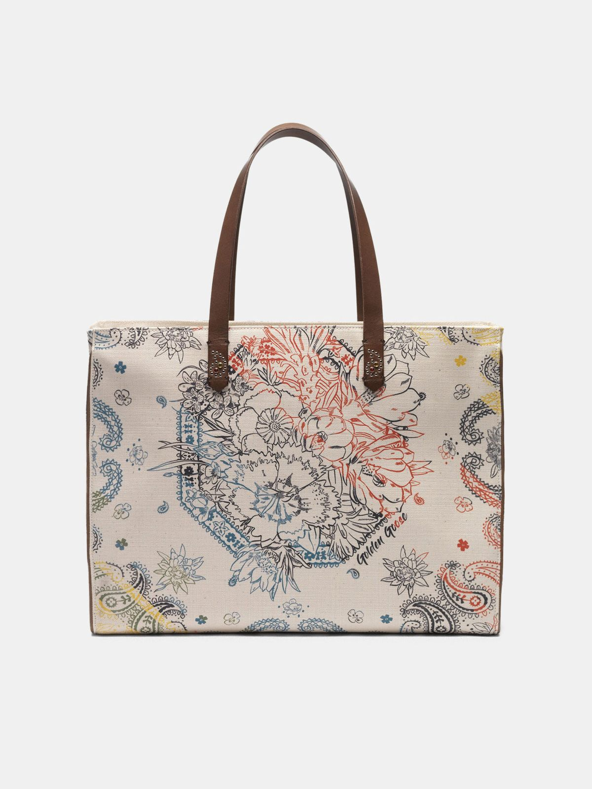 Golden Goose - Borsa California East-West stampa bandana in