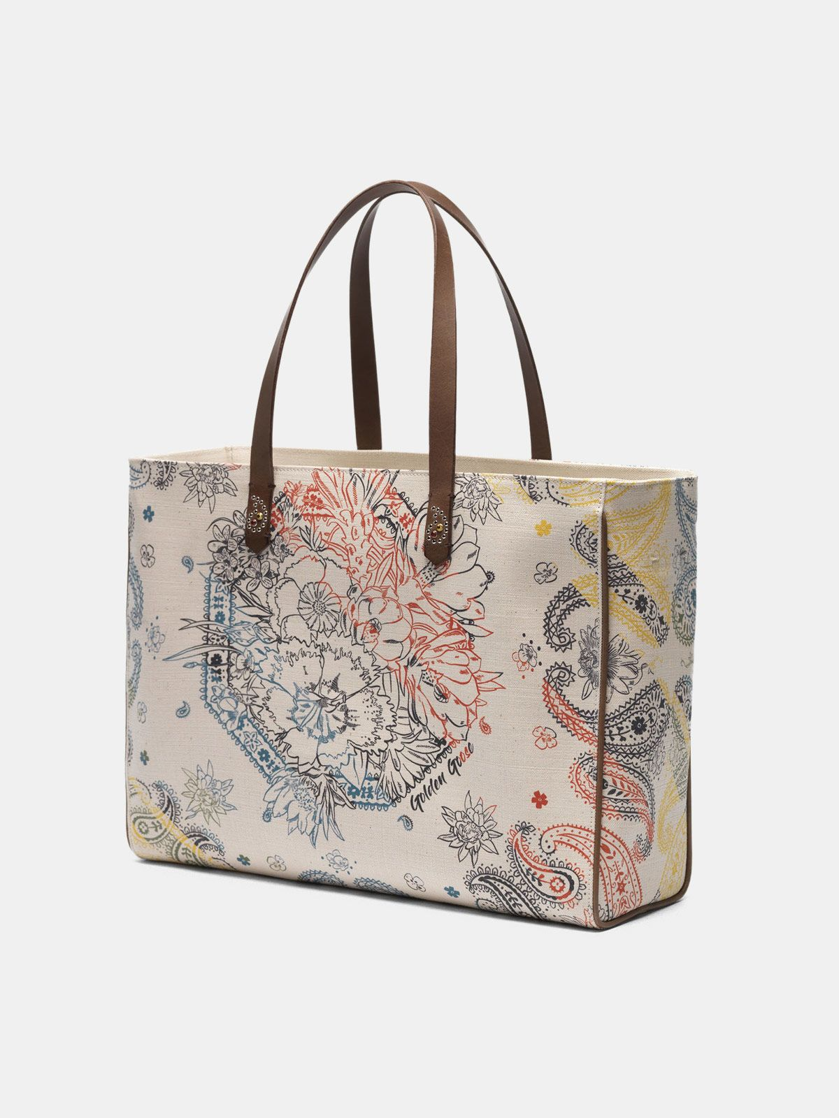 Golden Goose - East-West California Bag with bandana print in