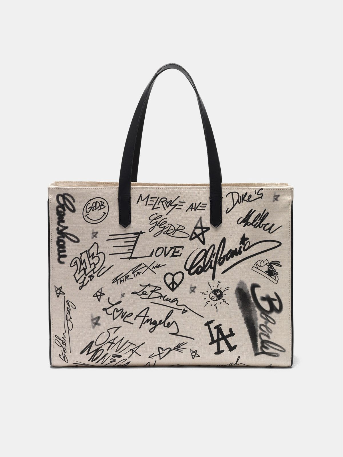 Graffiti print East-West California Bag