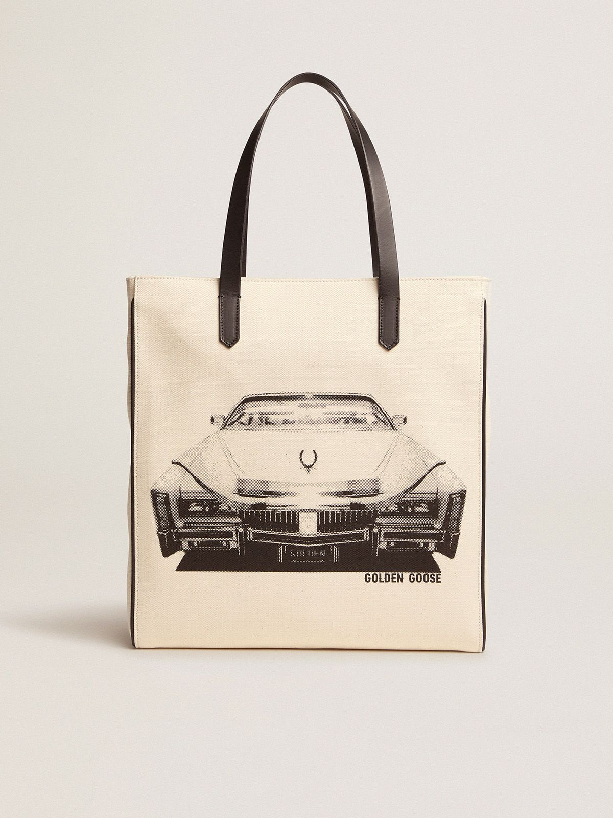 Golden Goose - Borsa California North-South stampa Cadillac in