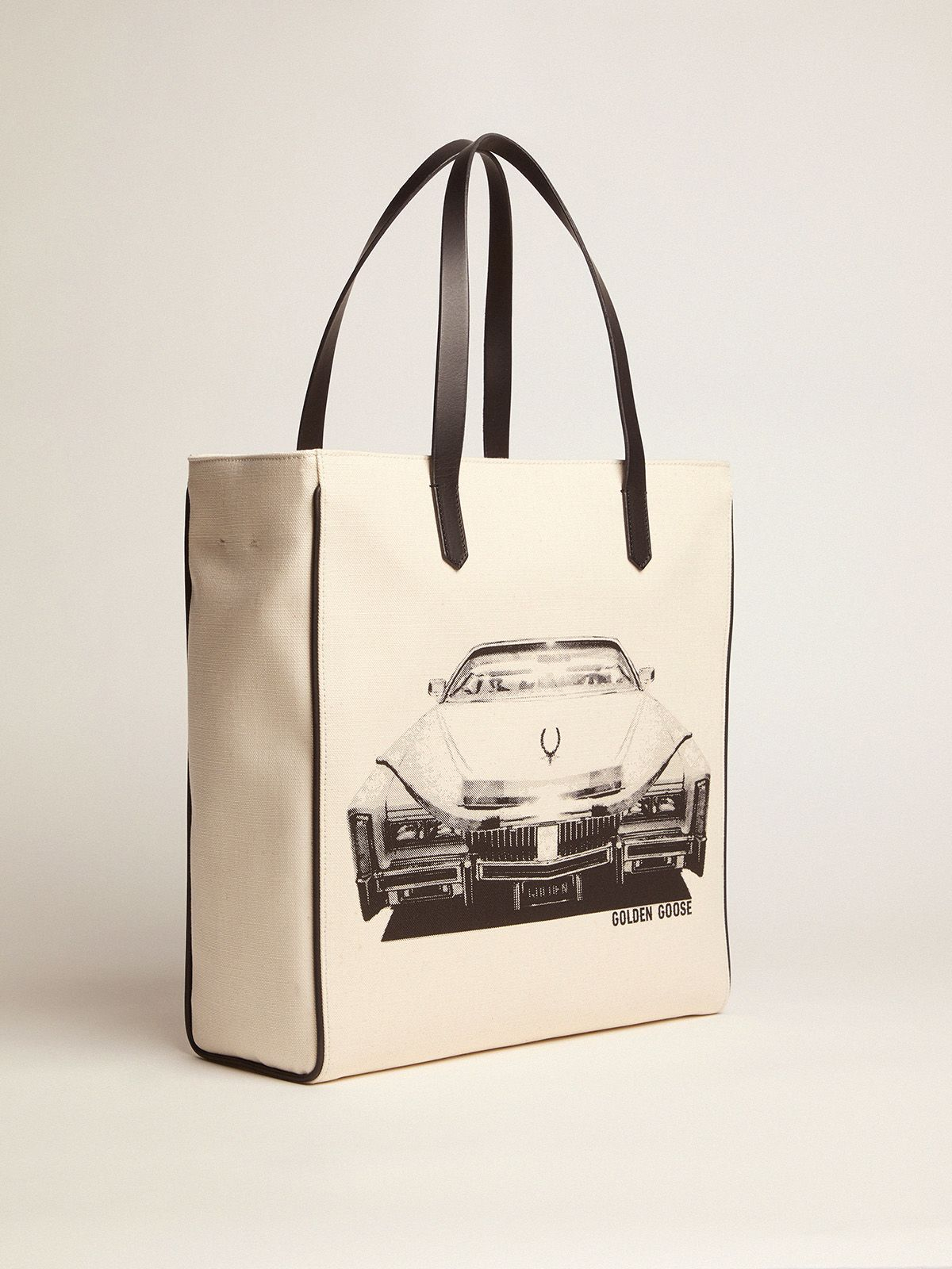 Golden Goose - Cadillac print North-South California Bag in