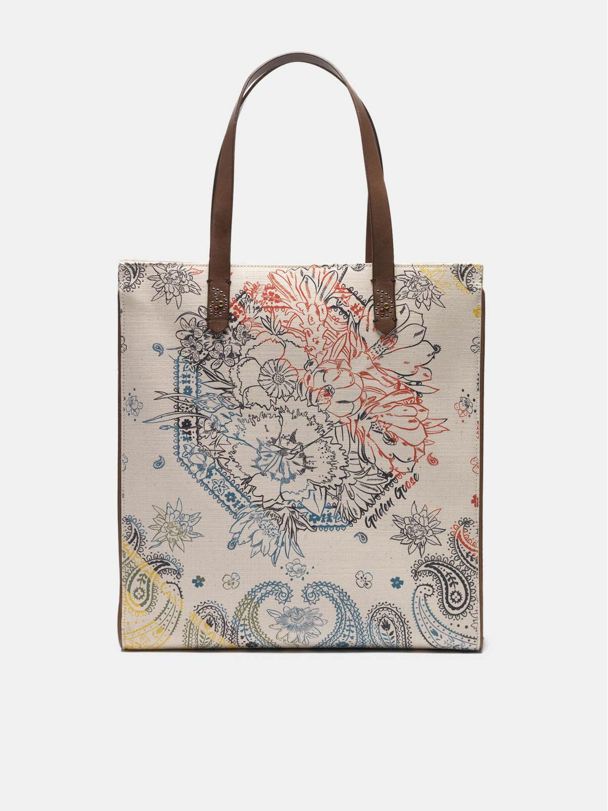 North-South California Bag with bandana print
