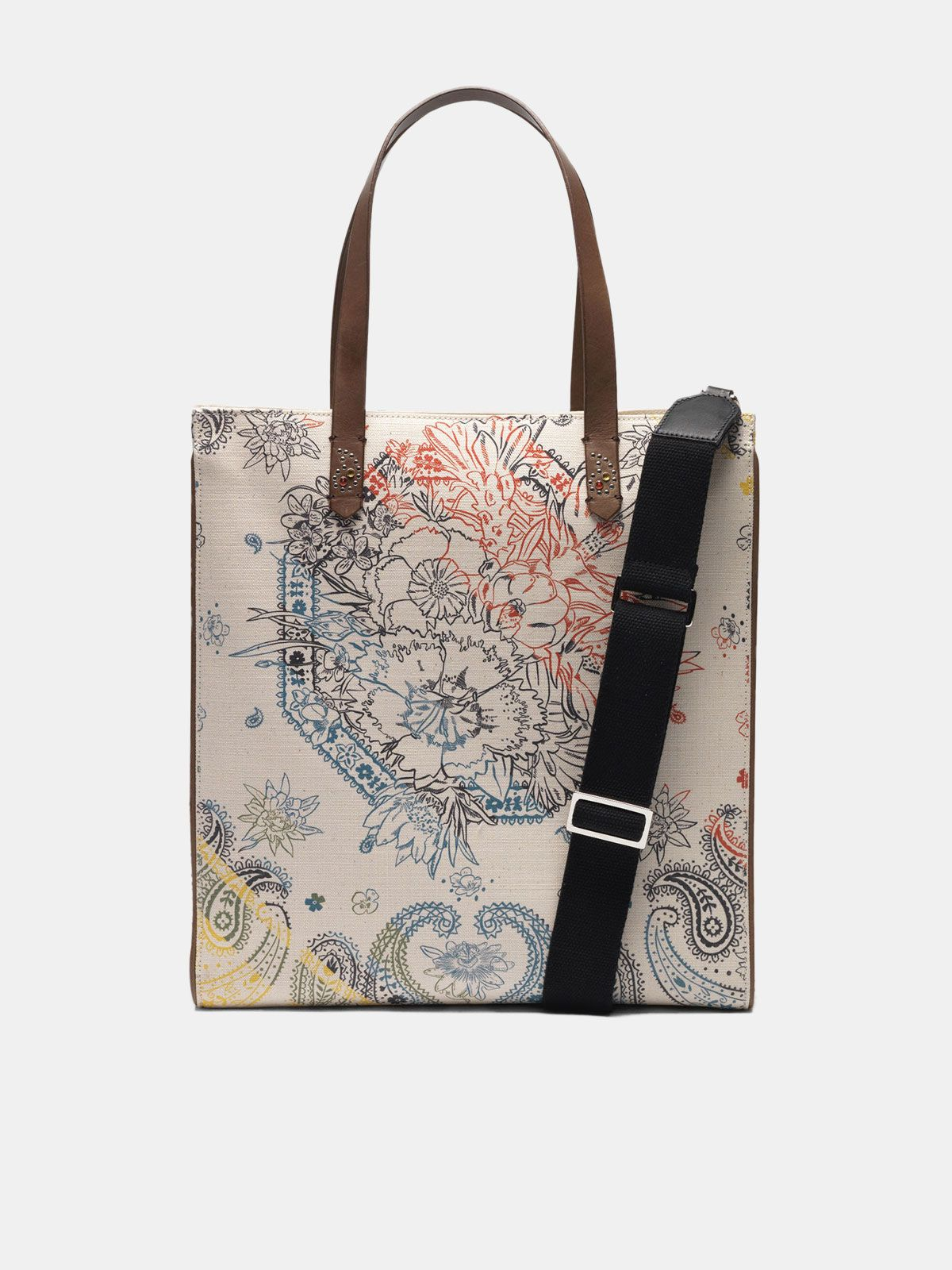 Golden Goose - North-South California Bag with bandana print in