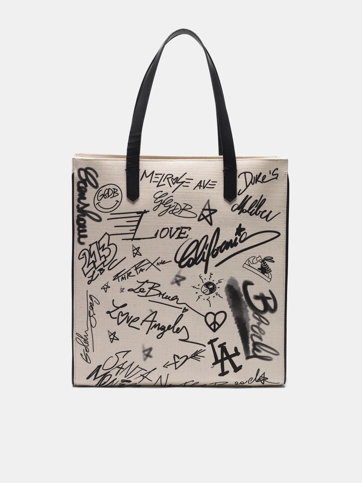 Graffiti print North-South California Bag