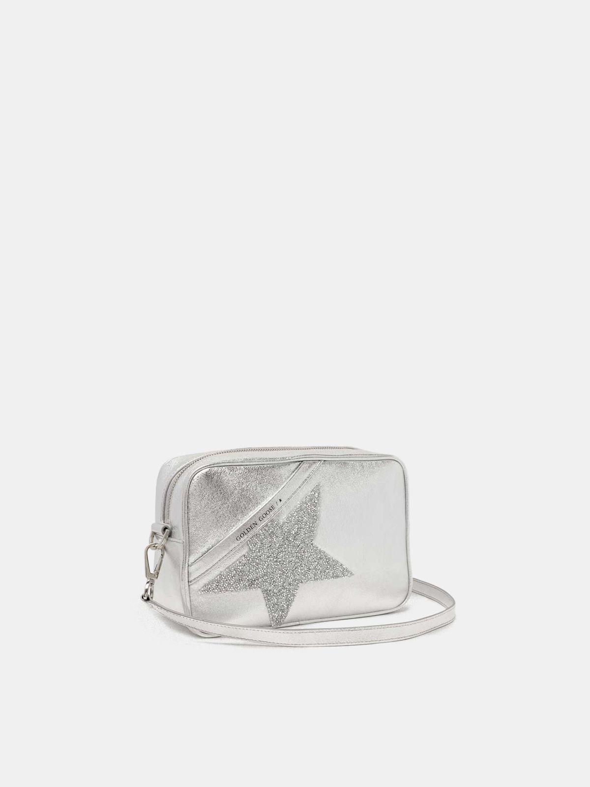 Golden Goose - Borsa Star Bag in pelle laminata con cristalli in