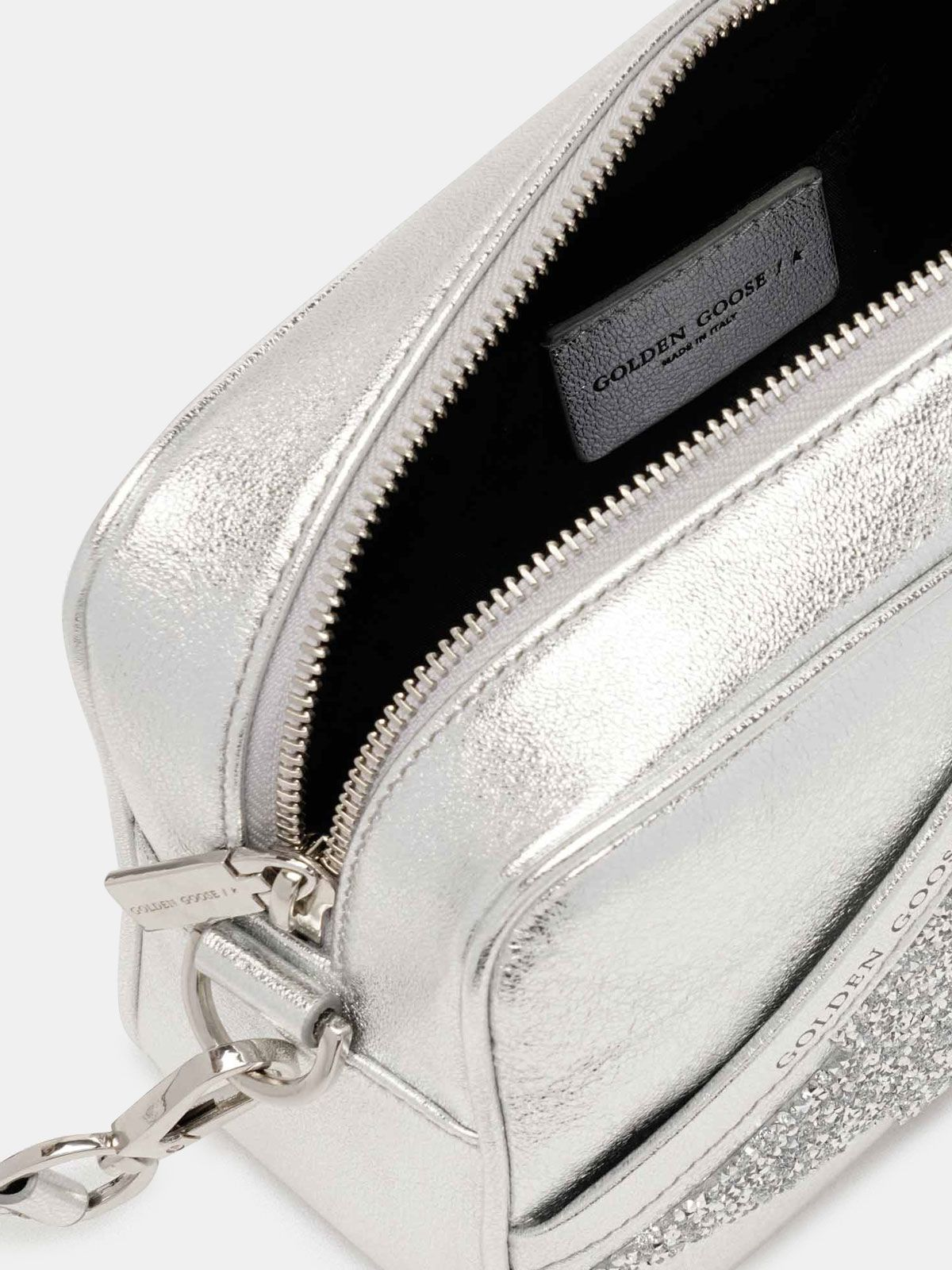 Golden Goose - Star Bag made of laminated leather with crystals in