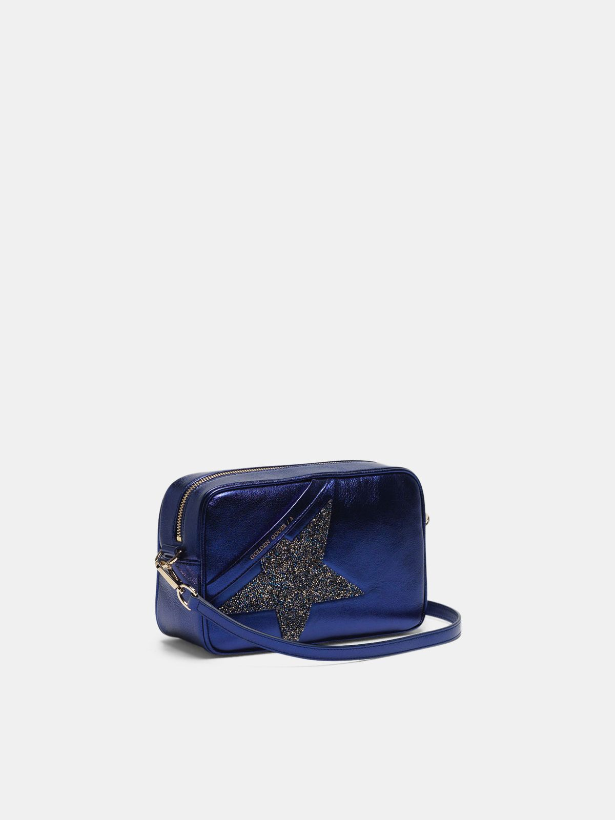 Golden Goose - Star Bag made of laminated leather with Swarovski crystals in