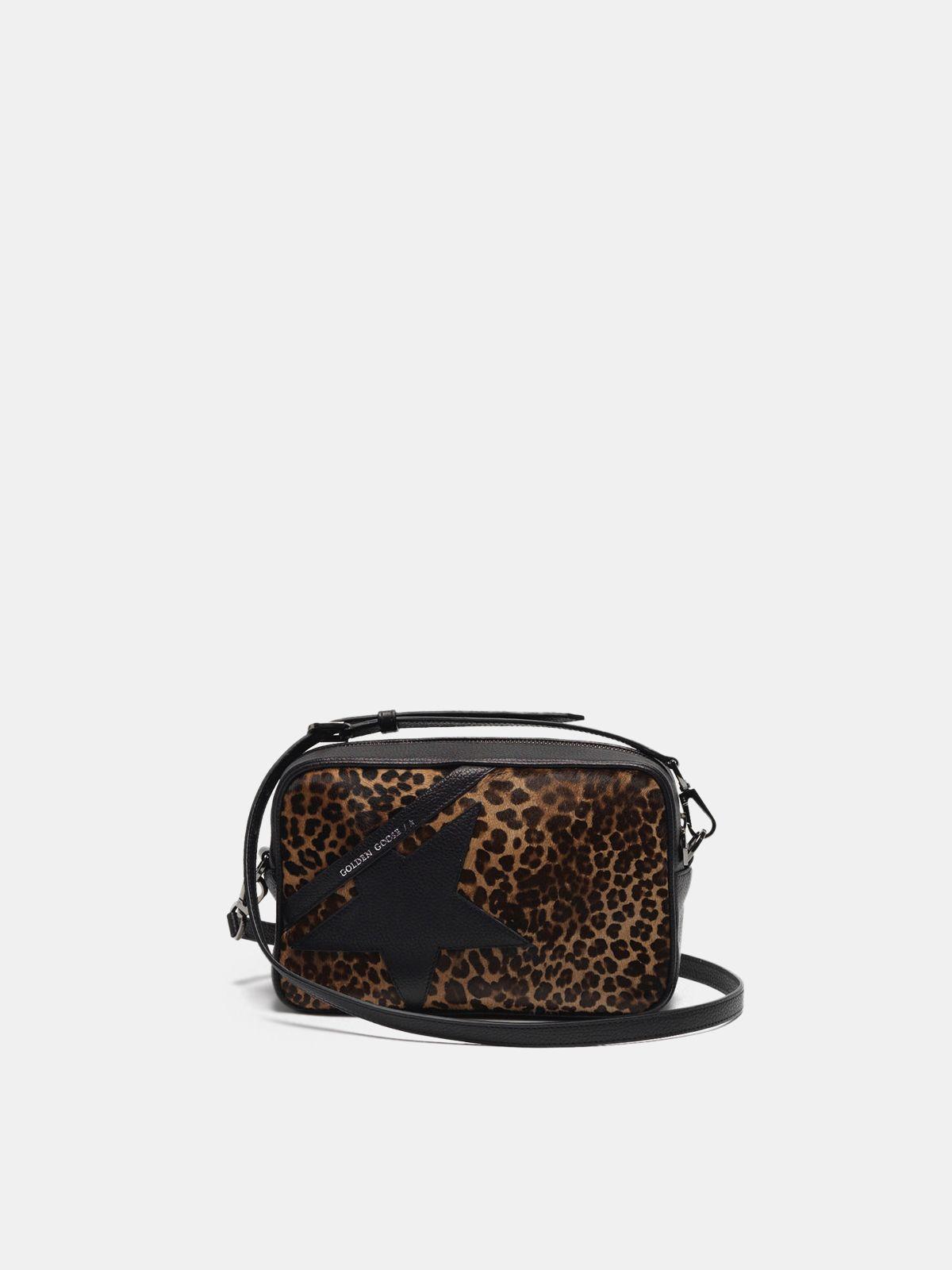 Golden Goose - Borsa Star Bag in cavallino stampa leopardata in