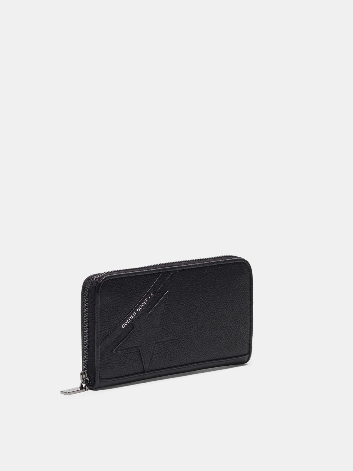 Golden Goose - Large black Star Wallet   in