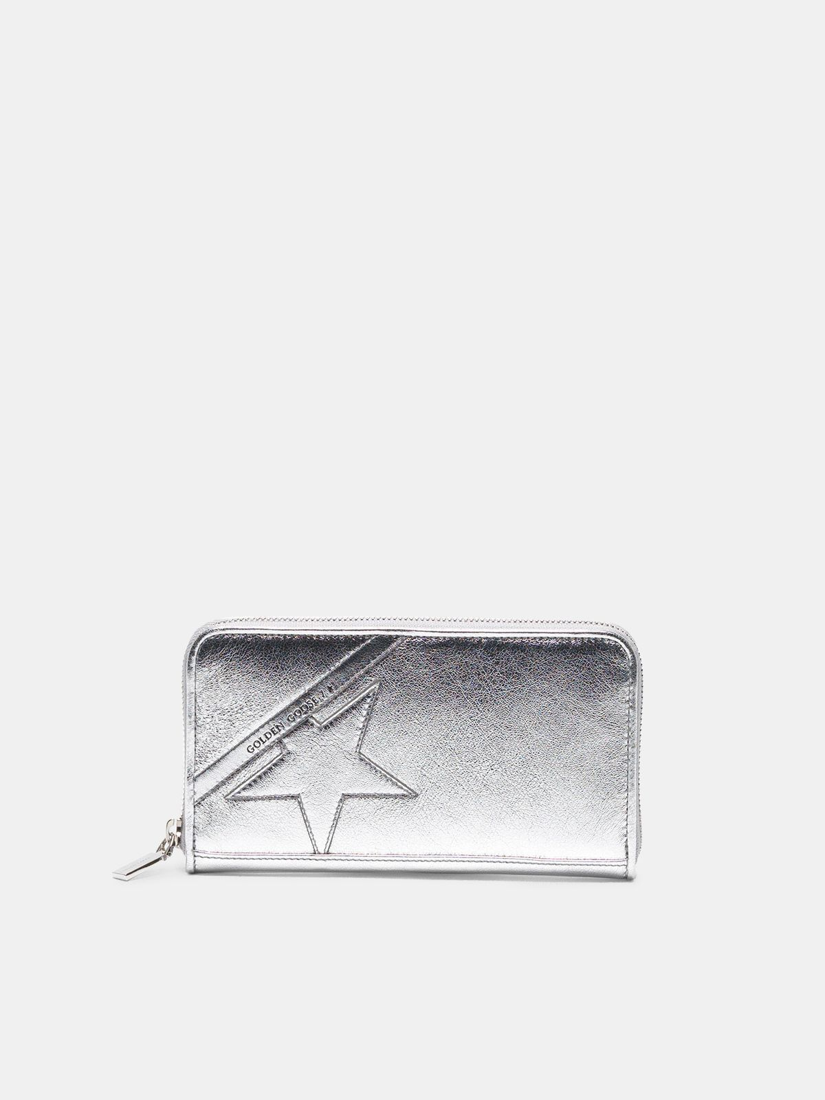 Portefeuille Star Wallet large argenté