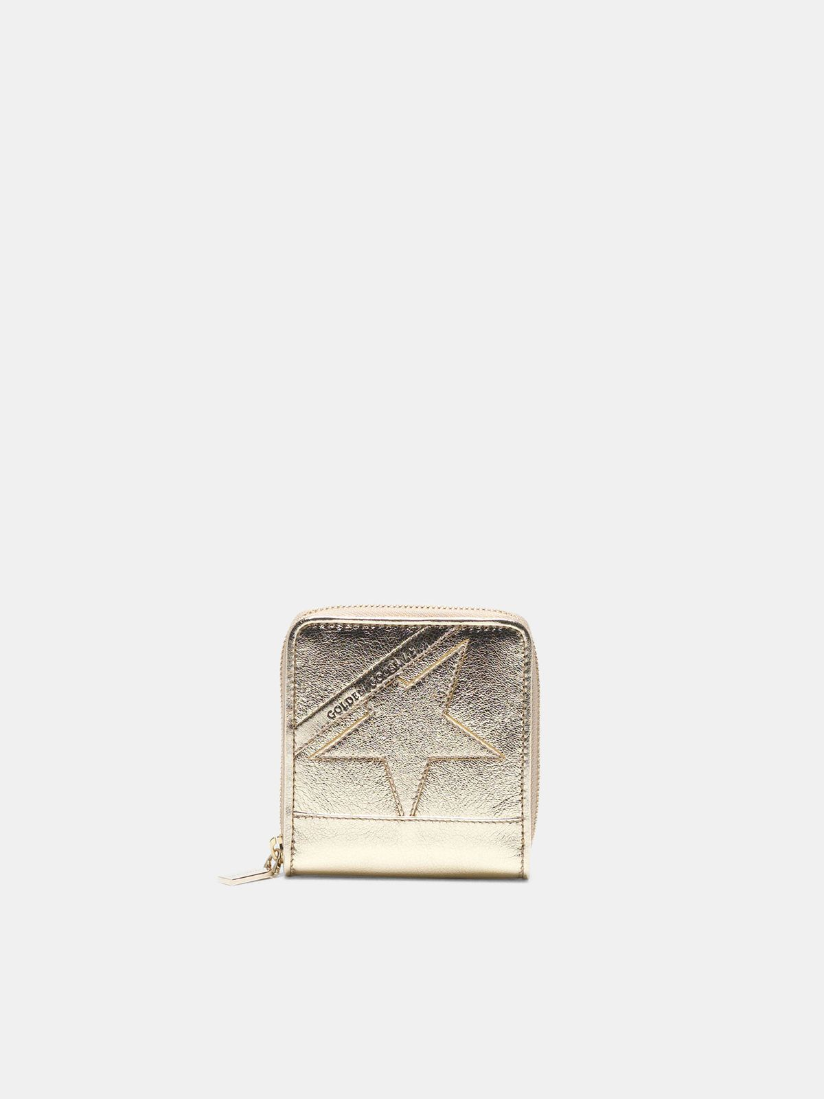 Golden Goose - Medium gold Star Wallet in