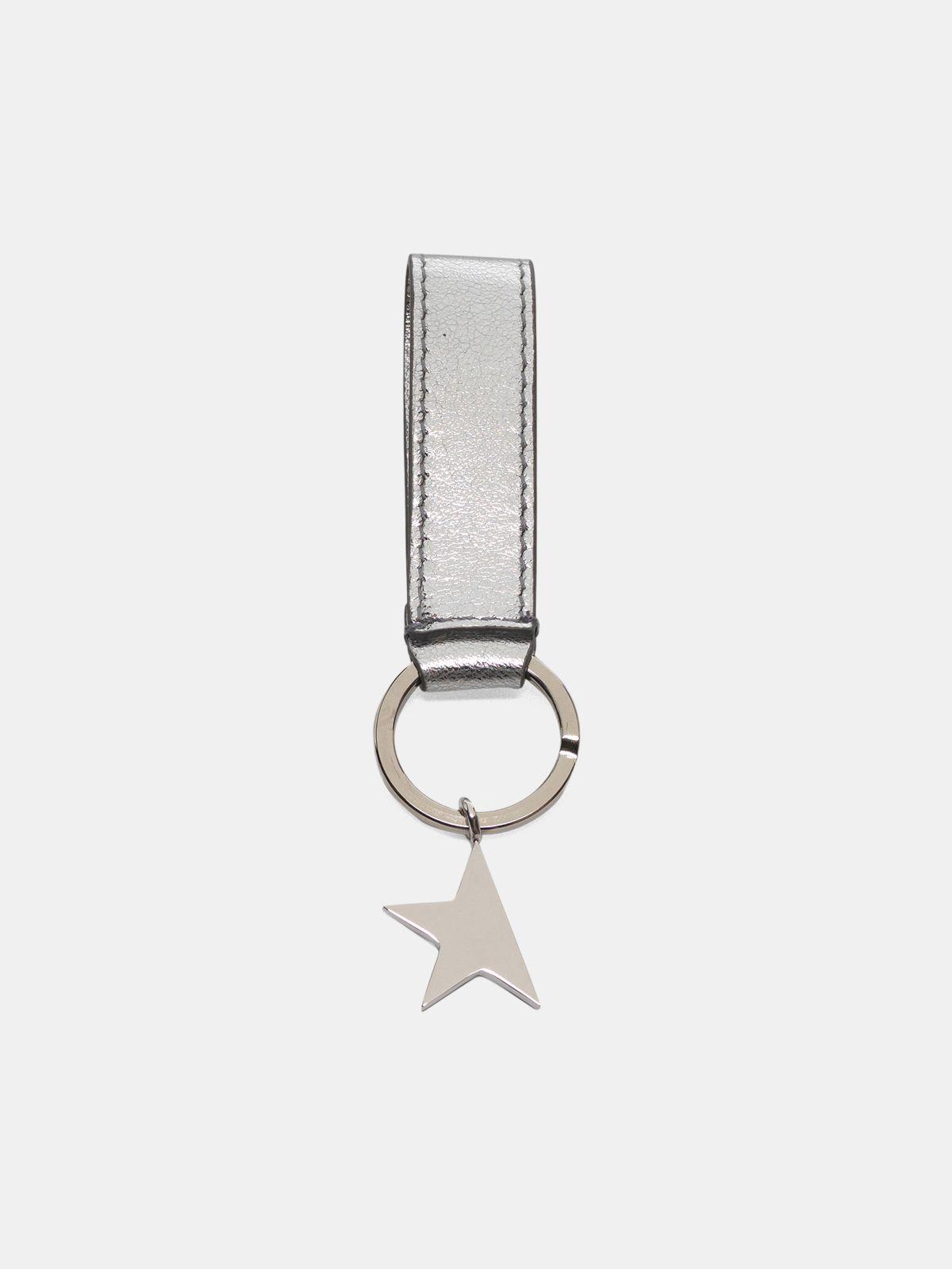 Golden Goose - Portachiavi Star Keyring argentato   in