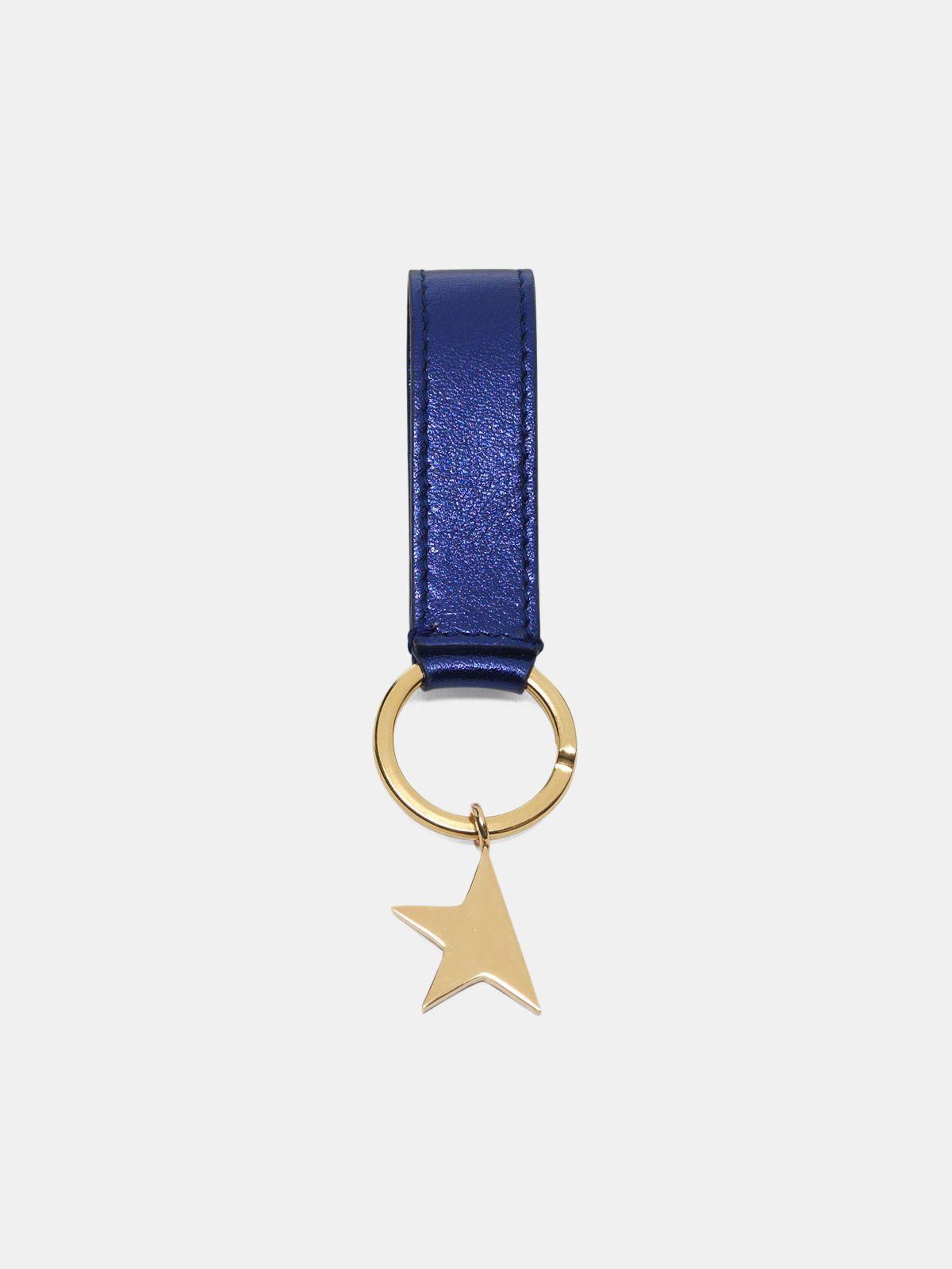 Golden Goose - Metallic blue Star Keyring   in