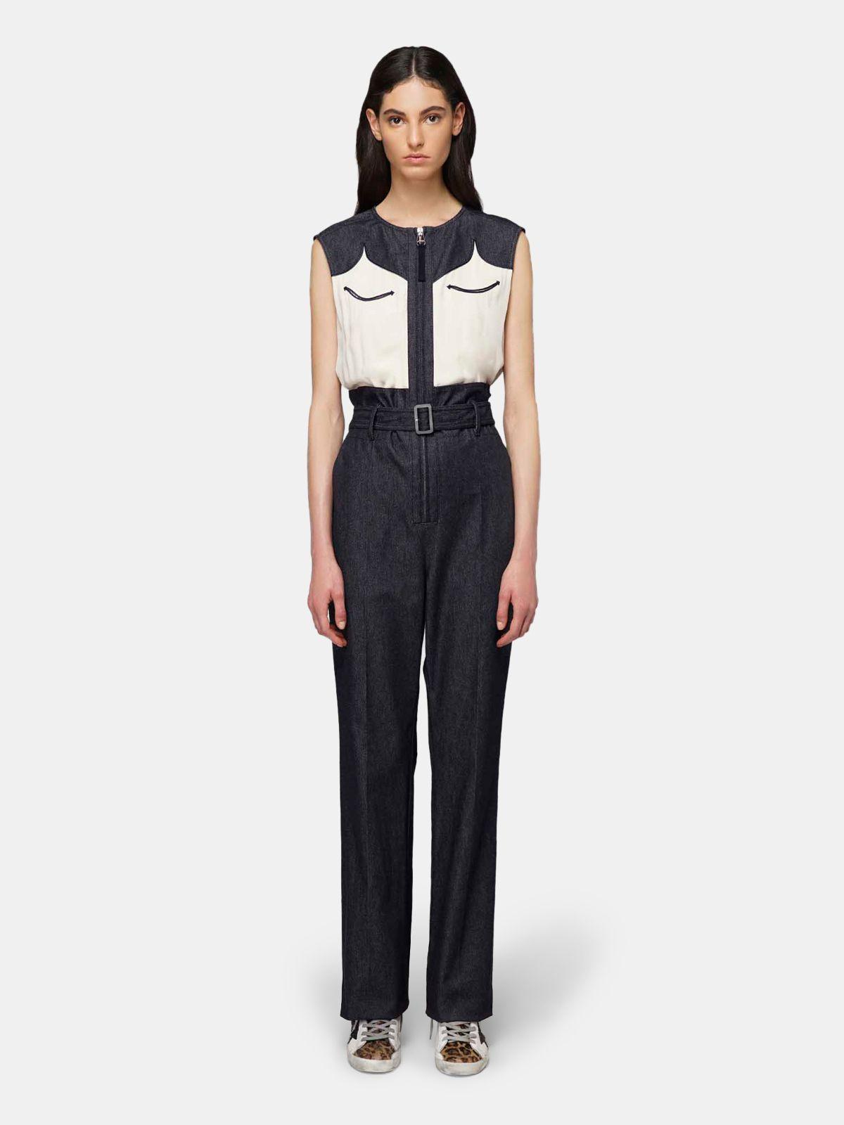 Golden Goose - Jocelyn jumpsuit in tailoring denim in