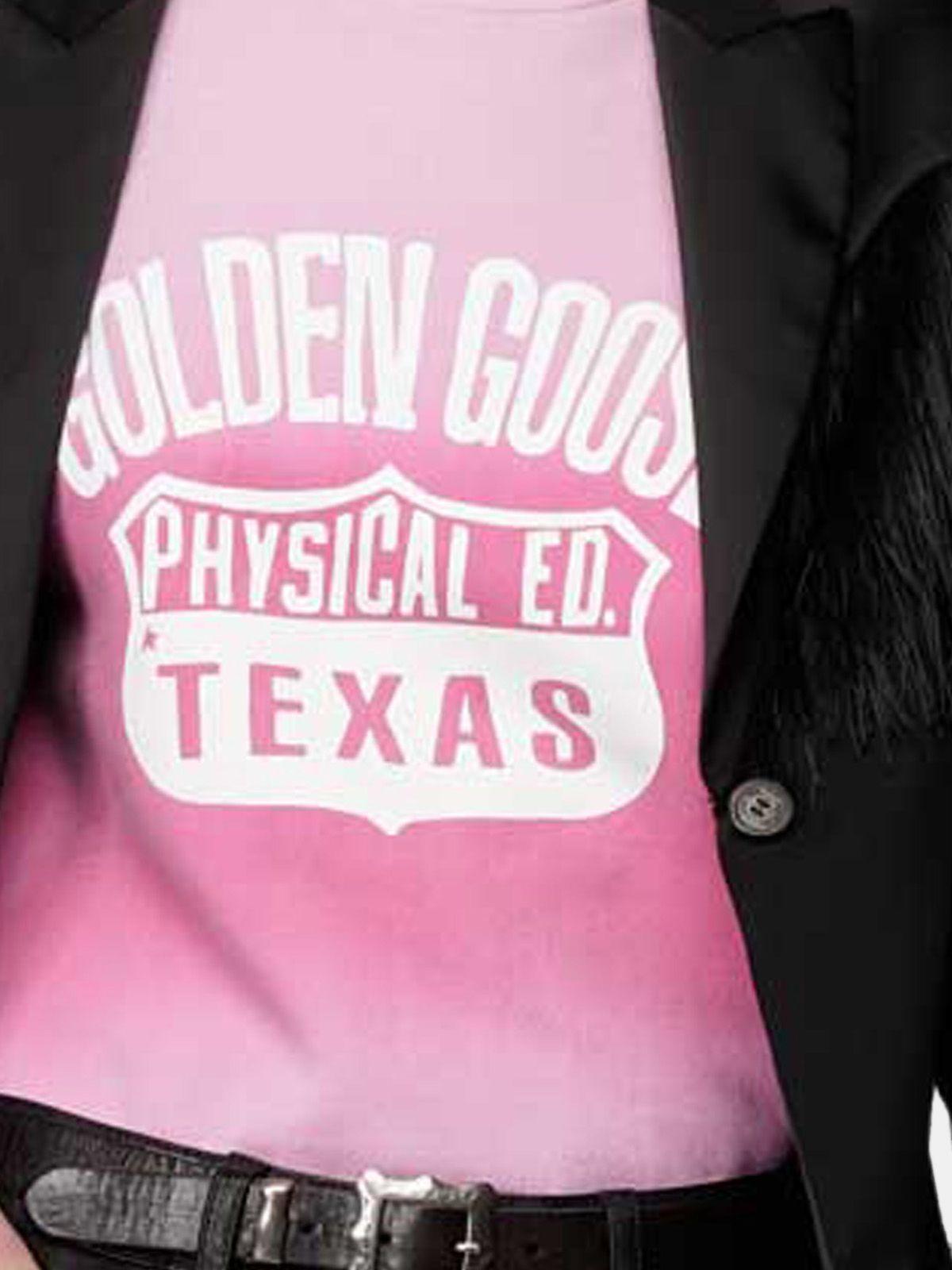 Golden Goose - Felpa Sharon girocollo tie-dye con stampa Texas in