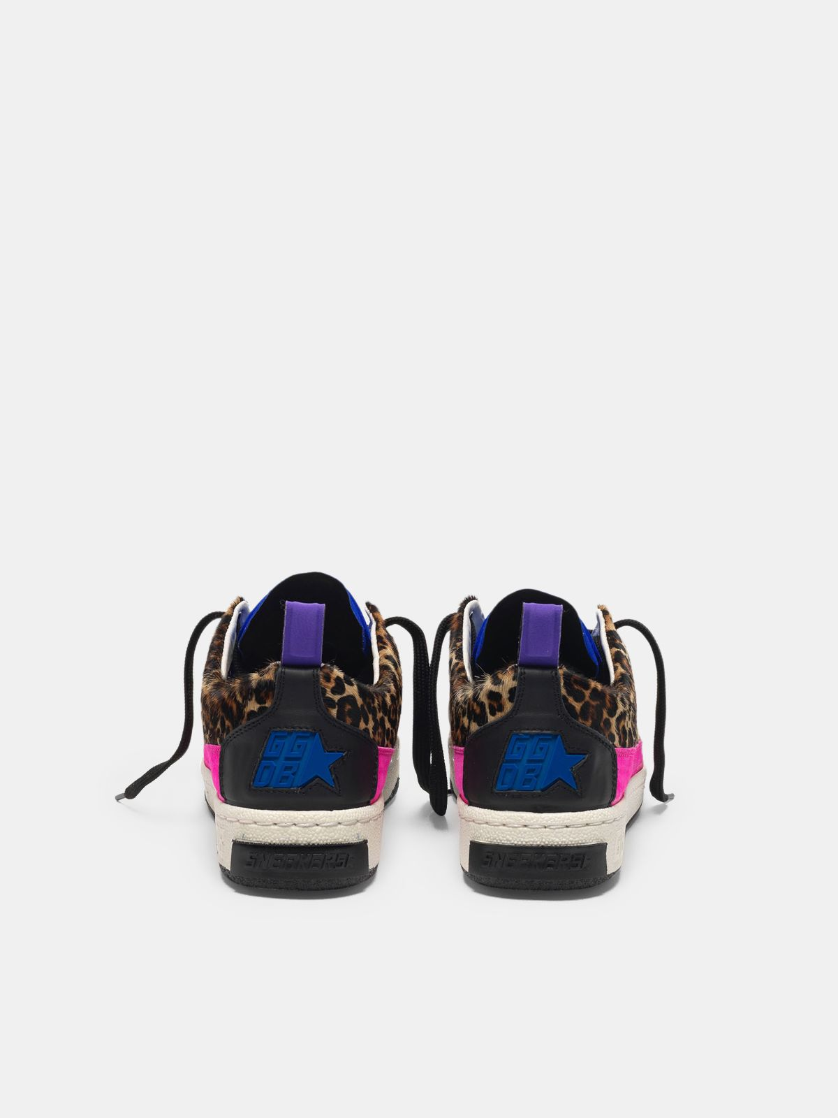 Golden Goose - Yeah! sneakers in leopard-print pony skin with a gold star   in