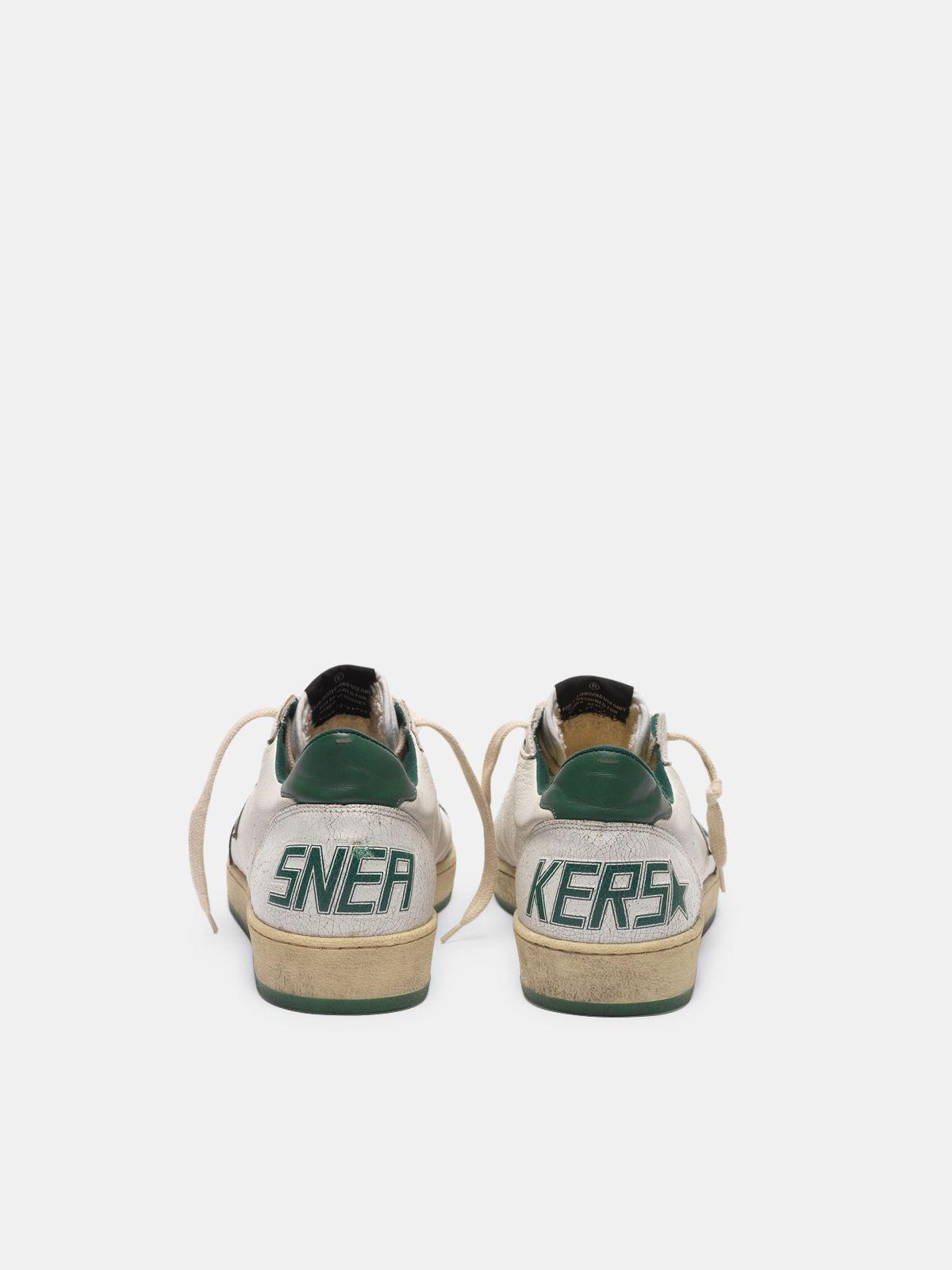 Golden Goose - Sneakers Ball Star in pelle  white/green in
