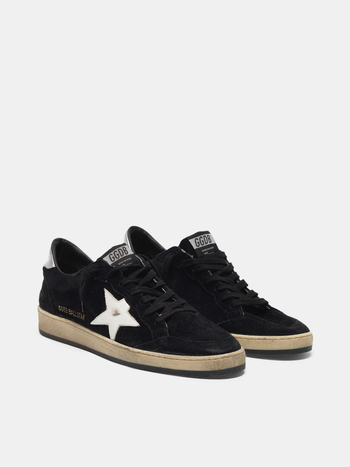 Golden Goose - Ball Star sneakers in suede with contrasting star and metal heel tab in