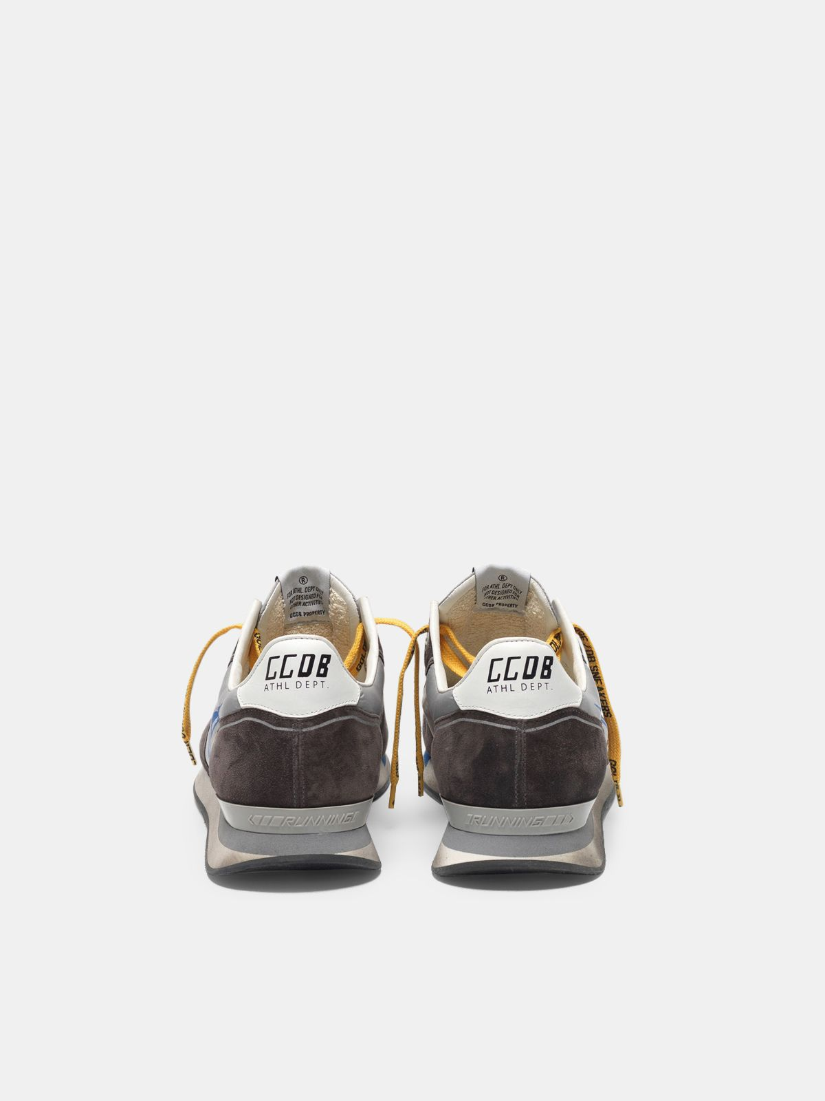 Golden Goose - Sneakers running in suede con inserto mesh e nylon in