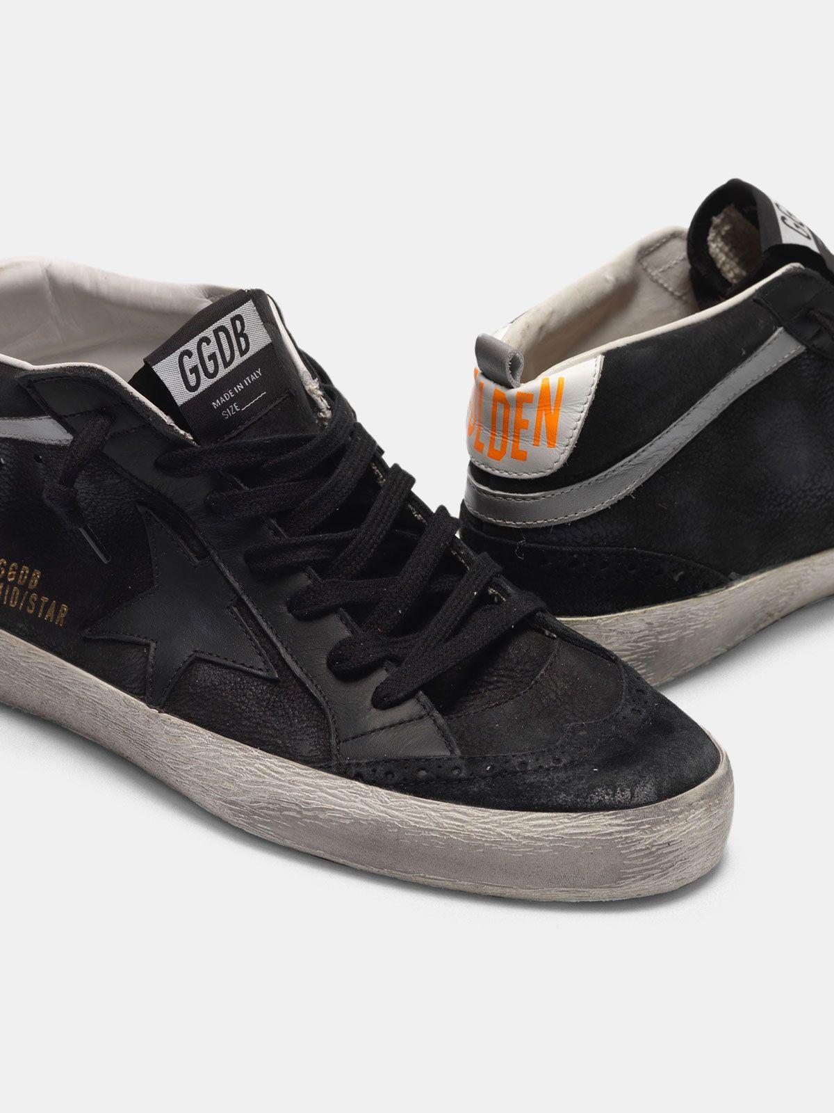 Golden Goose - Zapatillas deportivas Mid-Star de piel con aplicaciones de nobuk  in