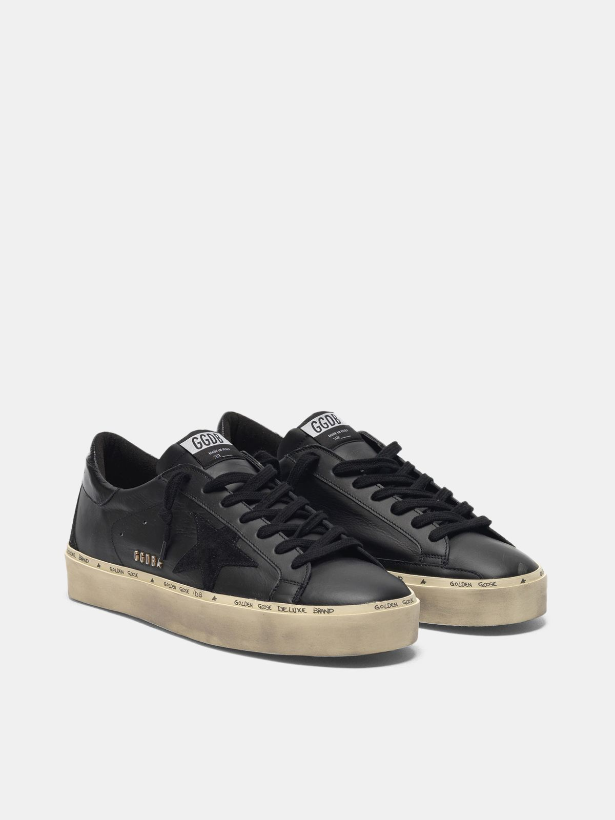 Golden Goose - Sneakers Hi-Star in pelle lettering GGDB borchiato in