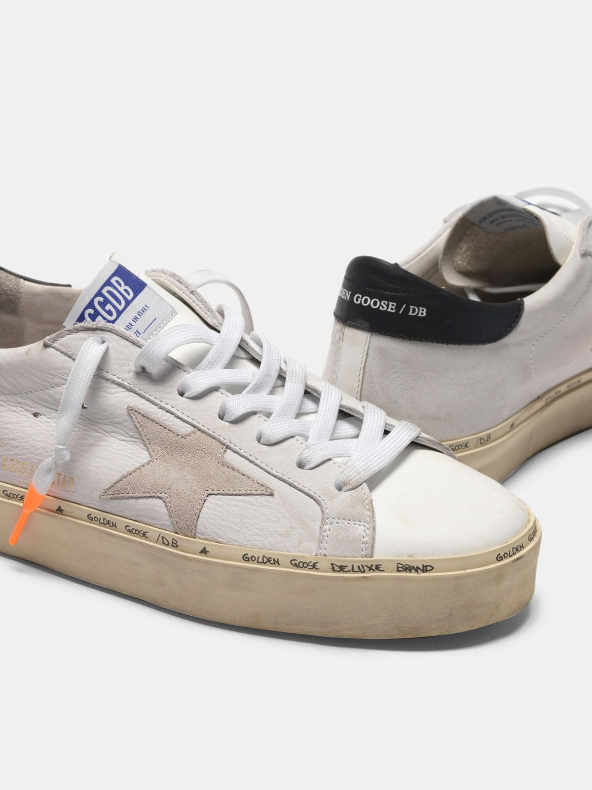 Golden Goose - Hi-Star sneakers with nubuck inserts and dipped laces in