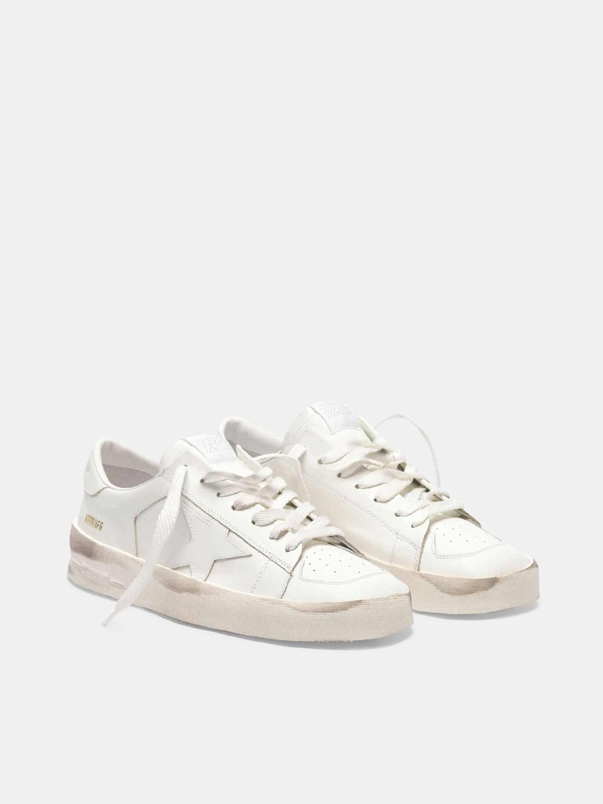 Golden Goose - Stardan sneakers in total white leather  in