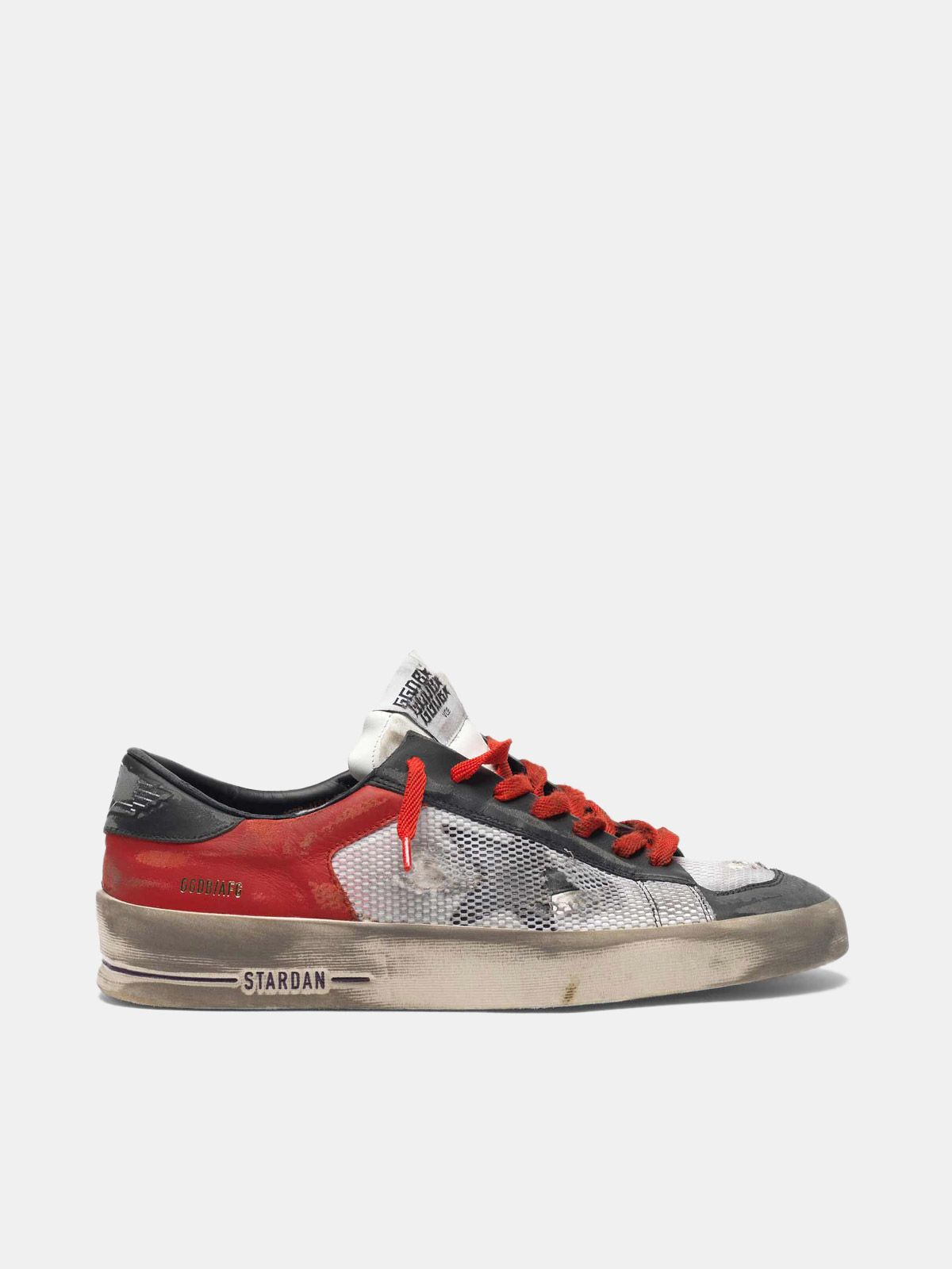 Golden Goose - Stardan LTD sneakers in leather with distressed mesh inserts  in