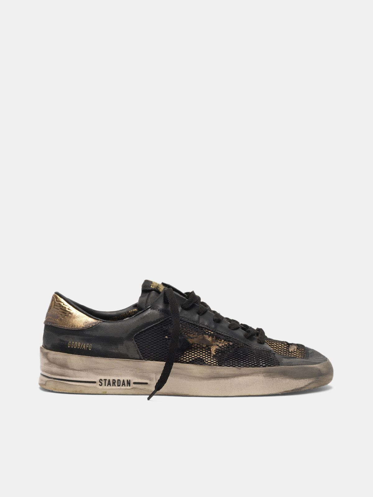 Golden Goose - Sneakers Stardan LTD in pelle con inserti in mesh distressed  in