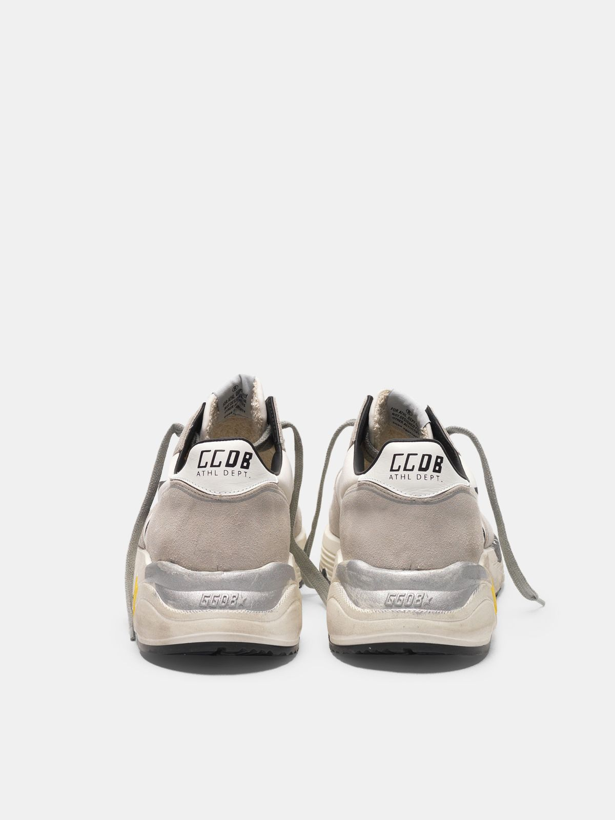 Golden Goose - Running Sole sneakers in leather and Lycra with black star in