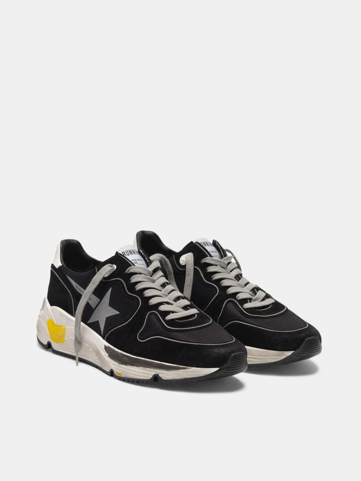 Golden Goose - Running Sole sneakers in leather and Lycra with silver star in