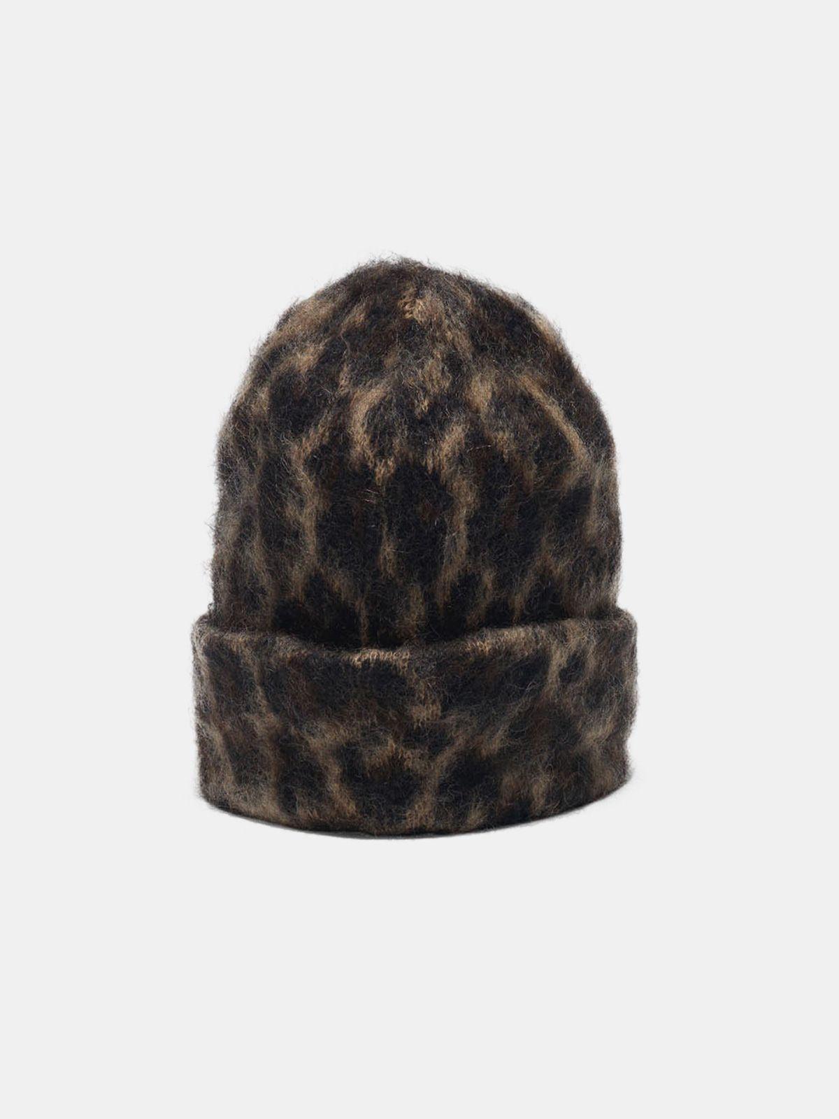 Golden Goose - Kiku jaguar jacquard beanie made of brushed mohair wool in