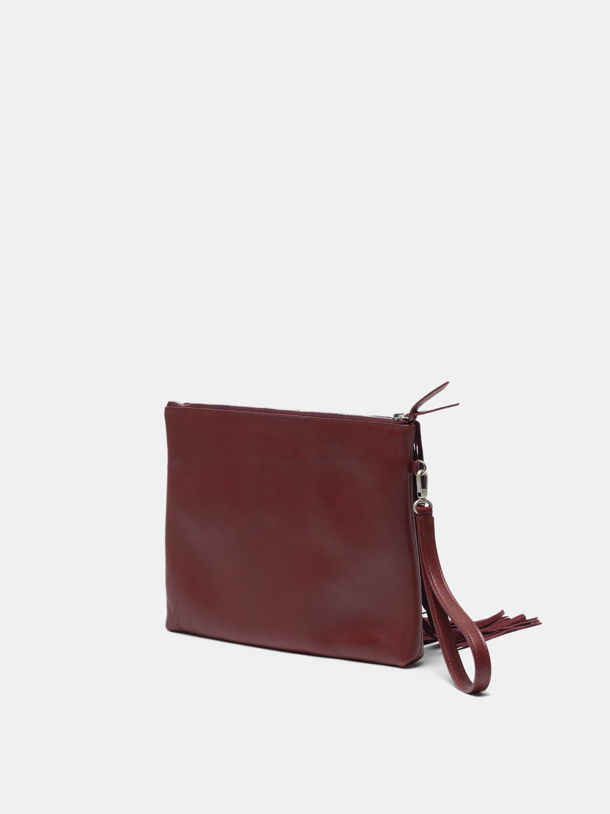 Golden Goose - XL Toast bag in leather with suede fringe in