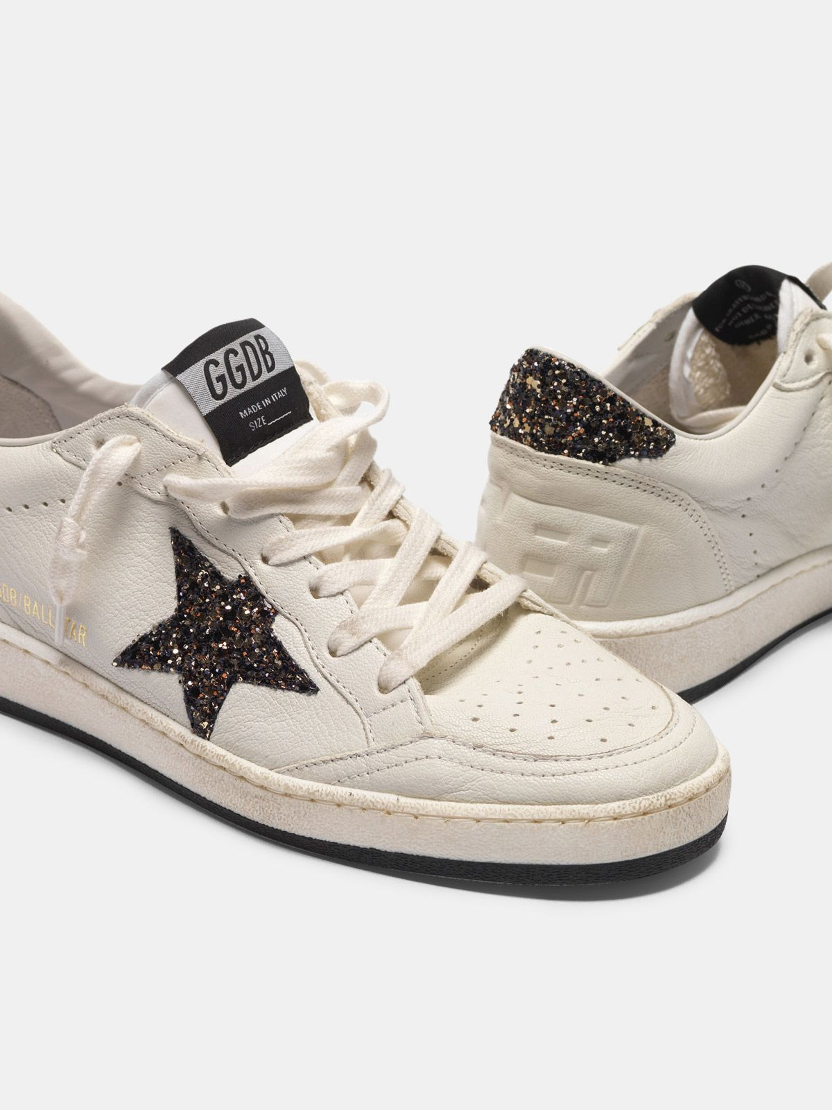 Golden Goose - Sneakers Ball Star con stella GGDB e talloncino in glitter in