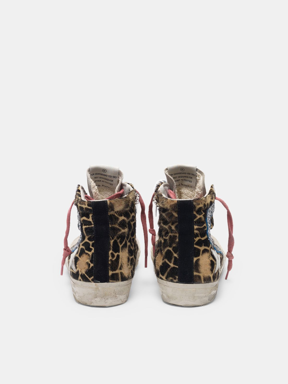 Golden Goose - Sneakers Slide in cavallino stampa animalier in