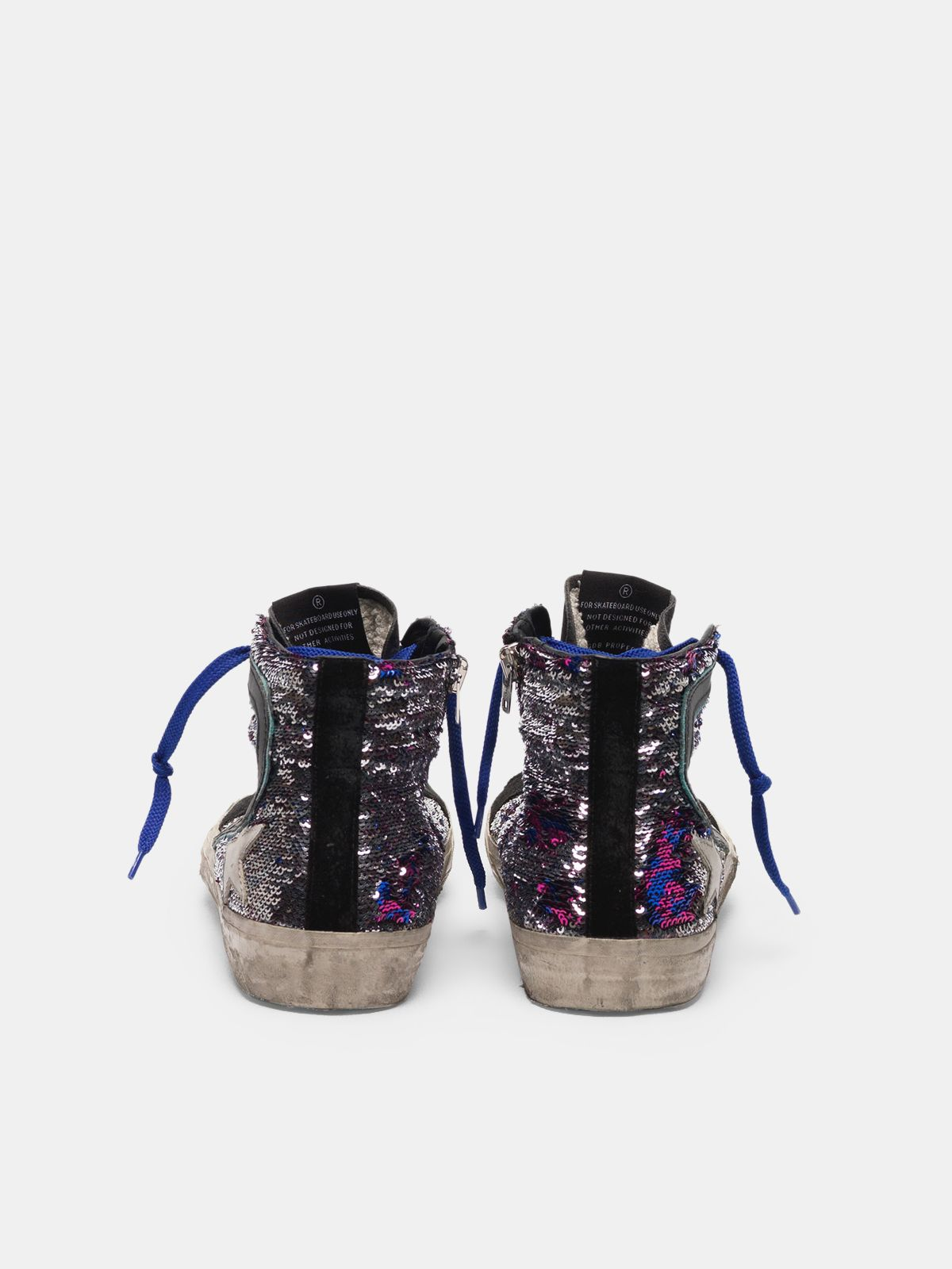 Golden Goose - Slide sneakers in suede and sequins in