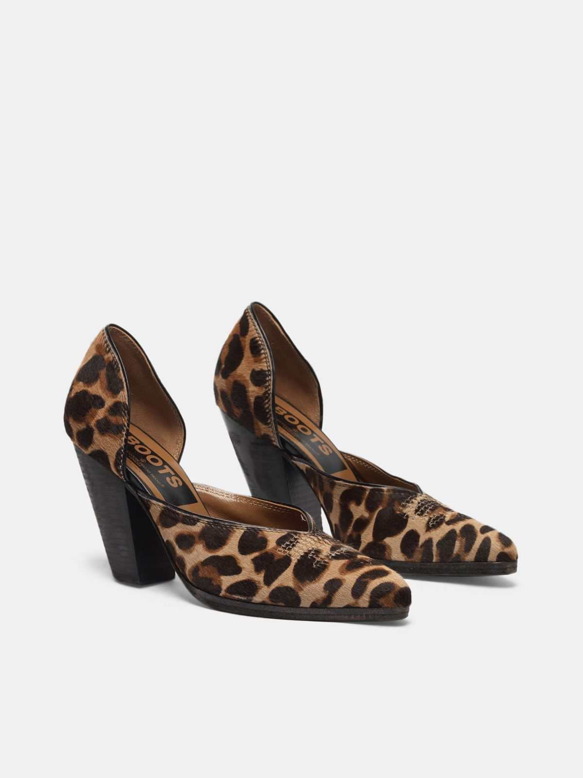 Golden Goose - Marfa pumps made of leopard print pony hide in