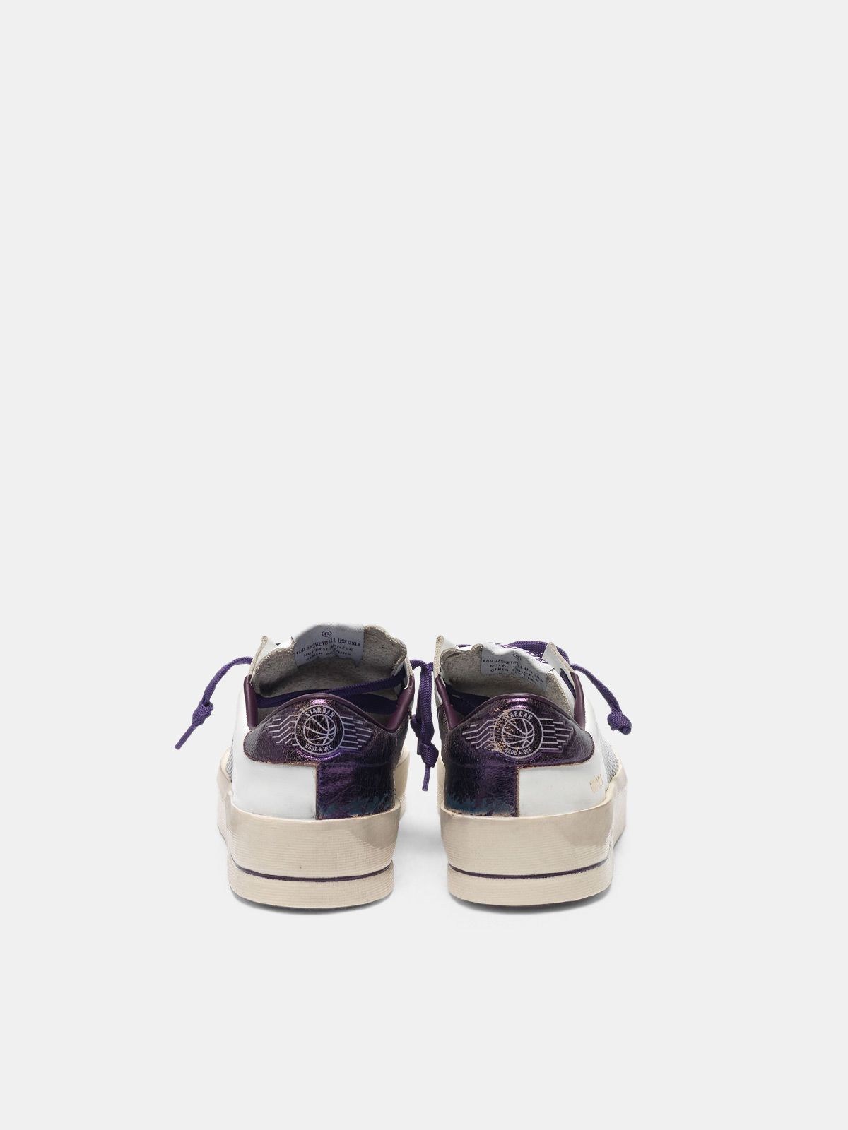 Golden Goose - Stardan sneakers with star and heel tab in metallic purple  in