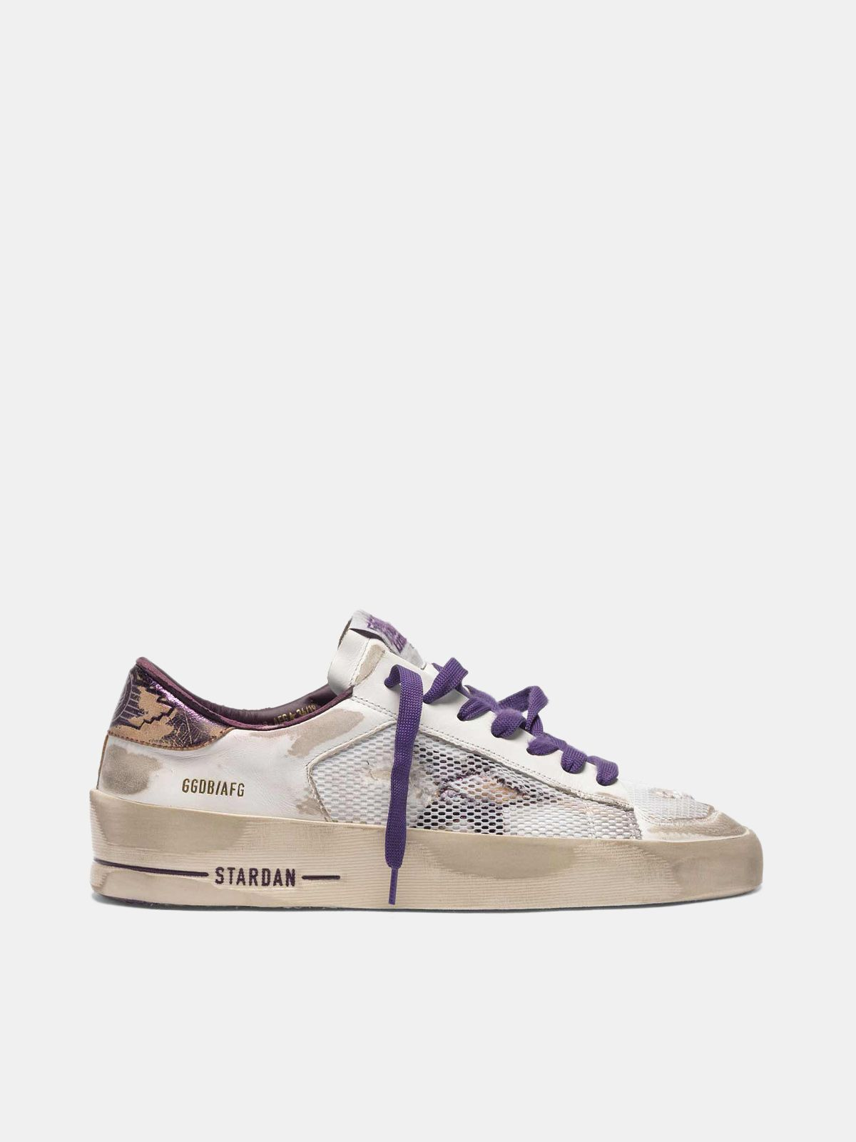 Golden Goose - Sneakers Stardan LTD white&purple distressed  in