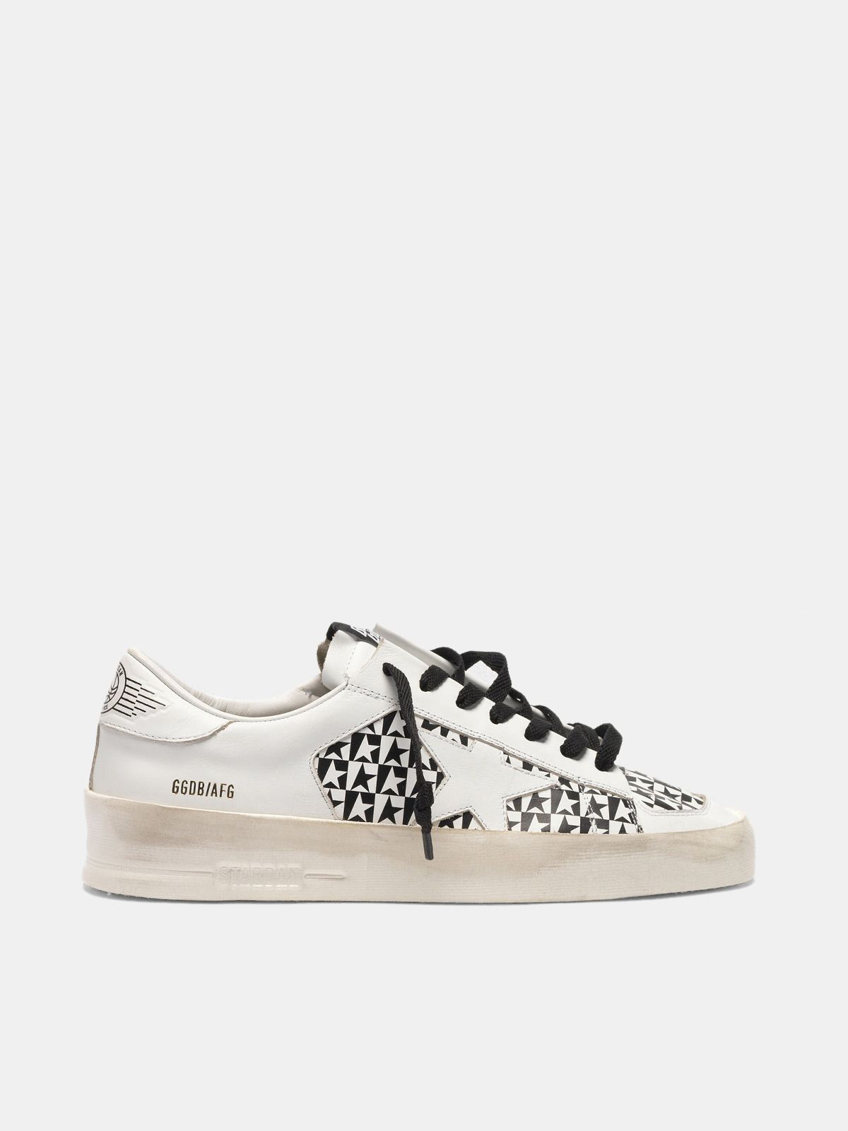Golden Goose - Sneakers Stardan con stampa stelle a scacchi in