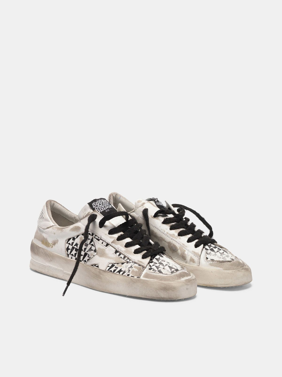 Golden Goose - Sneakers Stardan LTD con stampa stelle a scacchi in