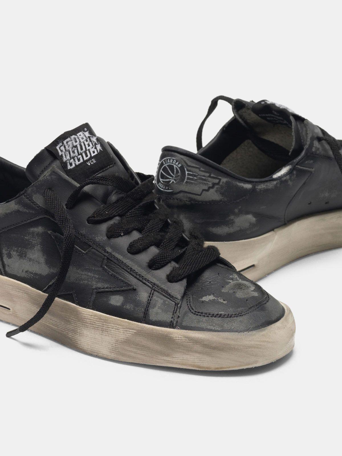 Golden Goose - Stardan LTD sneakers in total black leather  in