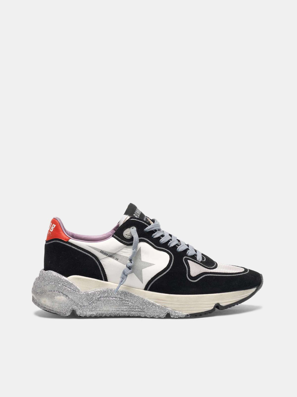 Golden Goose - Sneakers Running Sole con suola glitter in