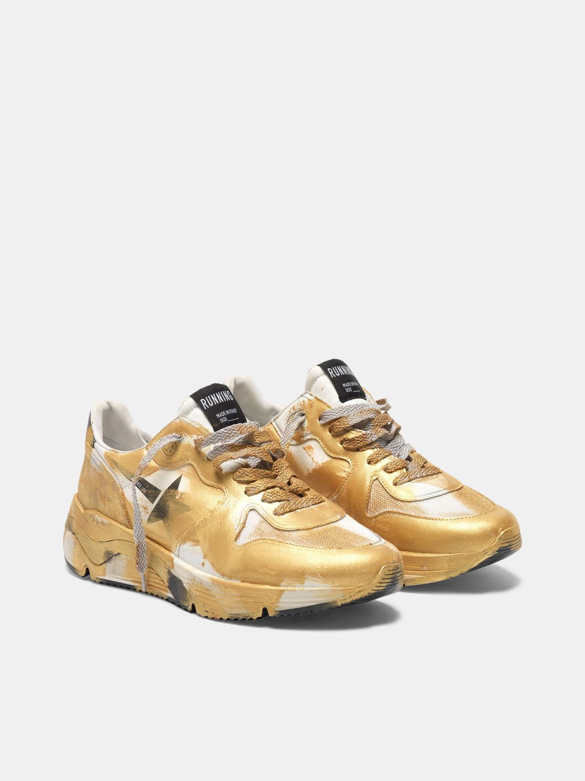 Golden Goose - Running Sole sneakers with gold varnish   in