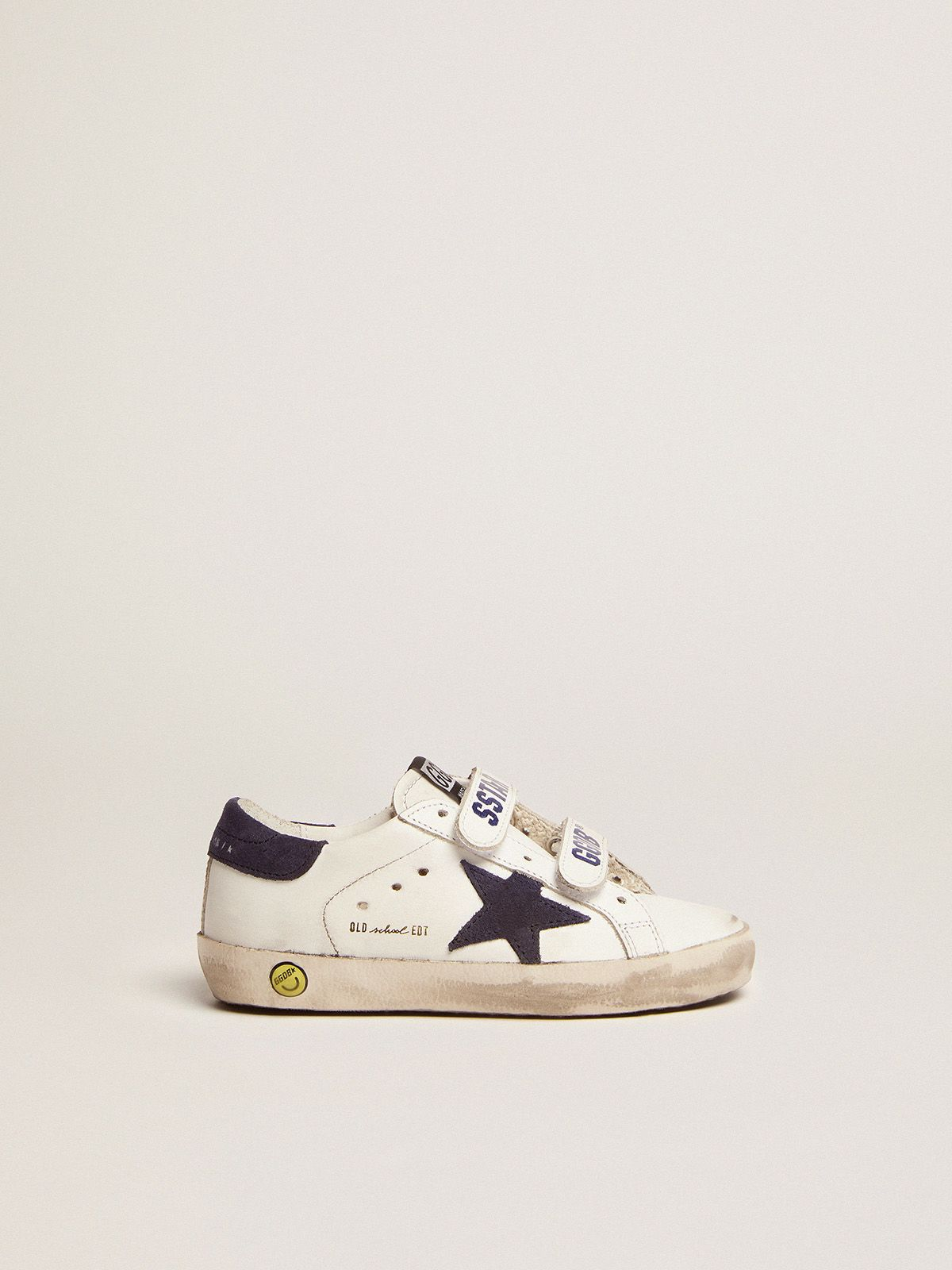 Old School sneakers in leather with suede star and heel tab